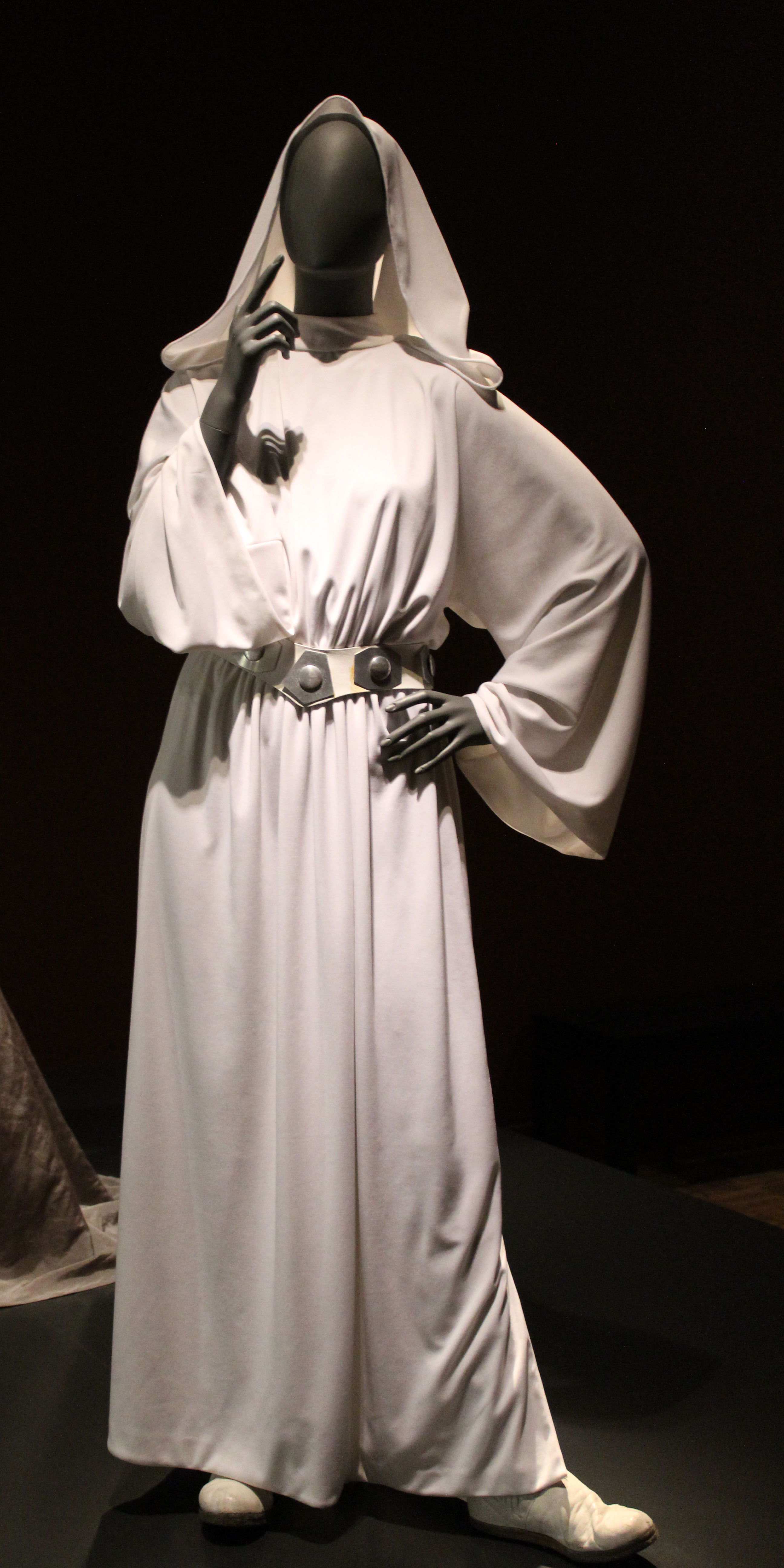 Photo of Princess Leia's white gown, worn in 1980's Episode V: The Empire Strikes Back