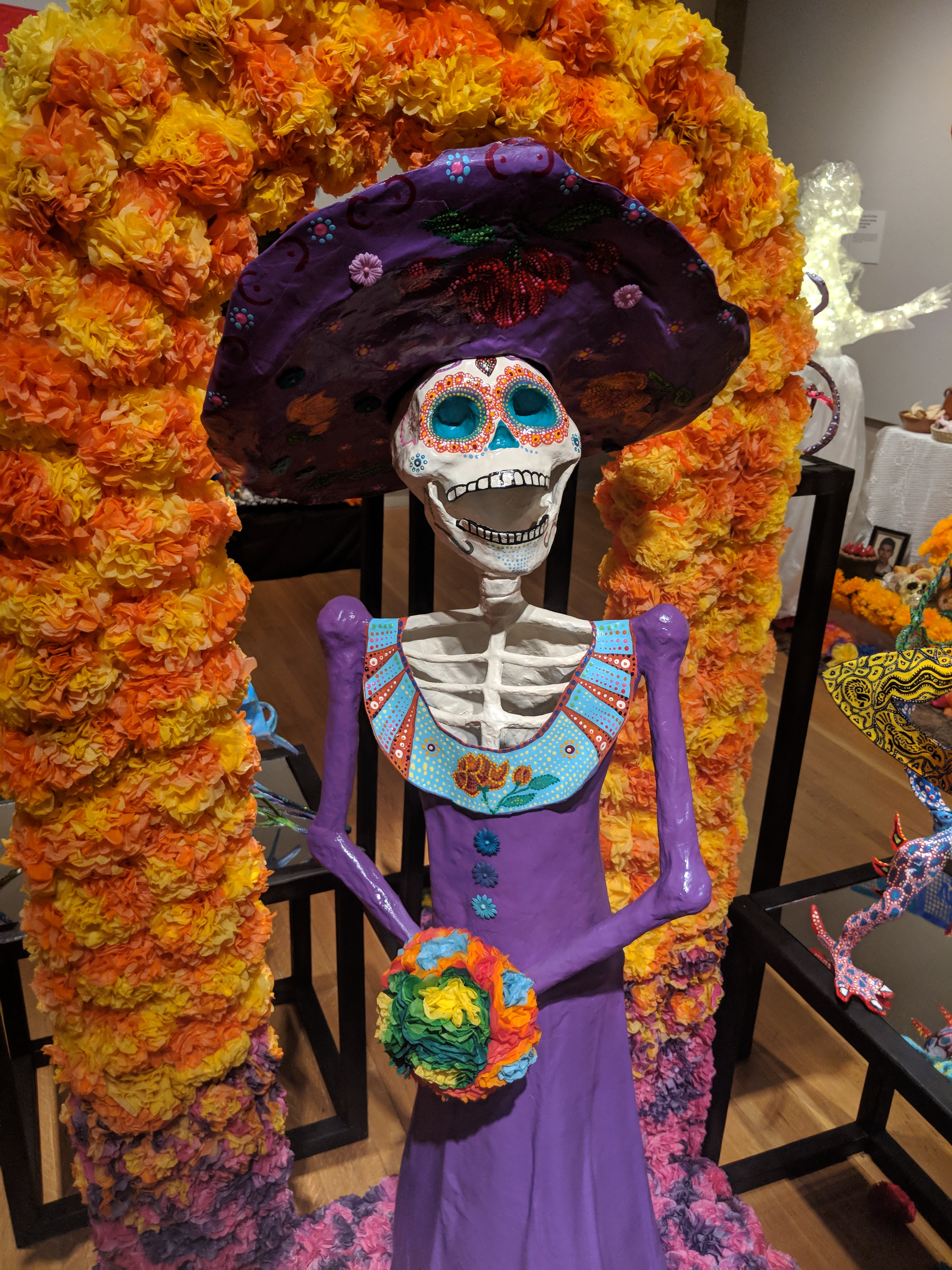 "Photo of the ofrenda ""Alebrijes Also Celebrate"" by Mario Alberto Martínez Méndez."