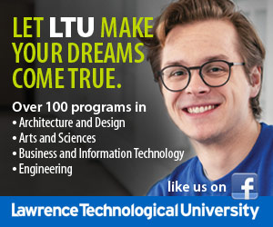 Lawrence Technological University sidebar ad for December