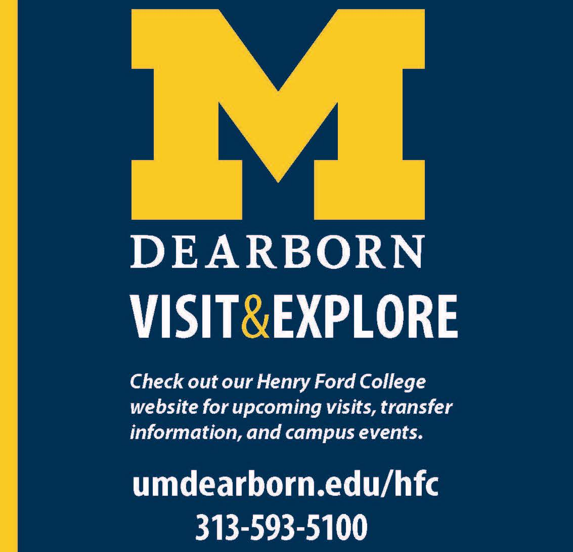 Sidebar advertisement telling students to transfer or enroll in classes at University of Michigan Dearborn