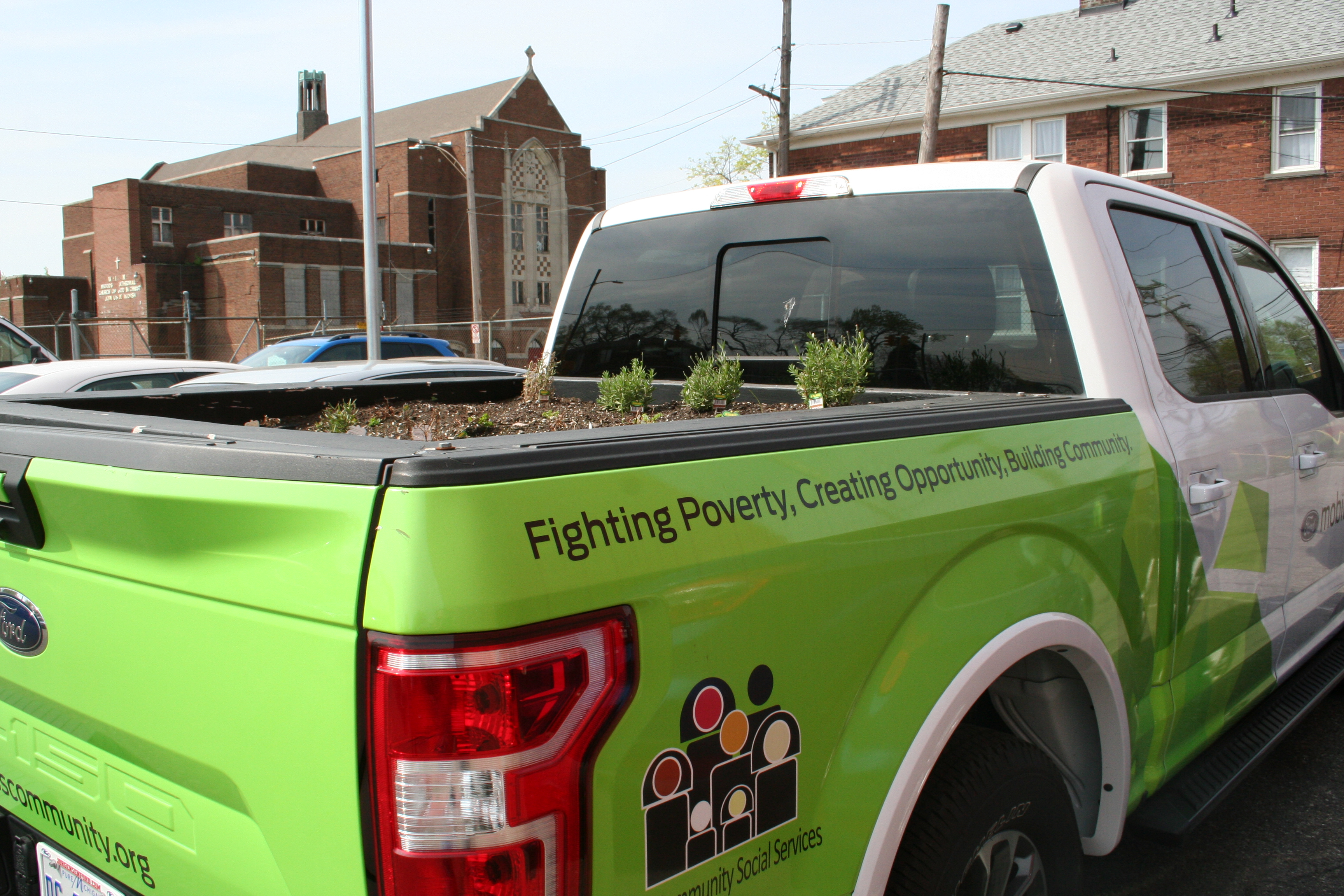 Cass Community Social Services Ford F-150 Mobile Farm Project