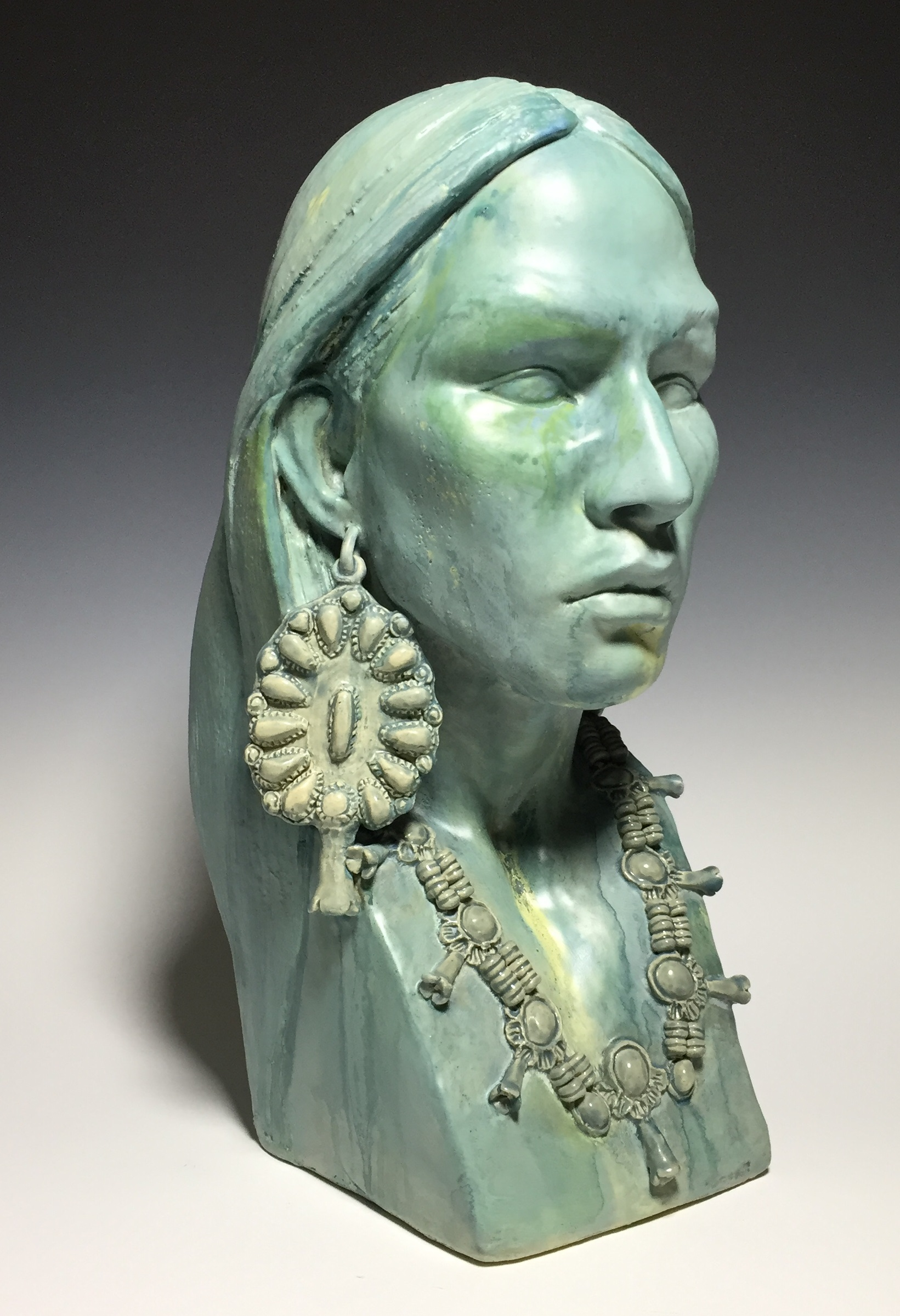 Bust of a Native American woman