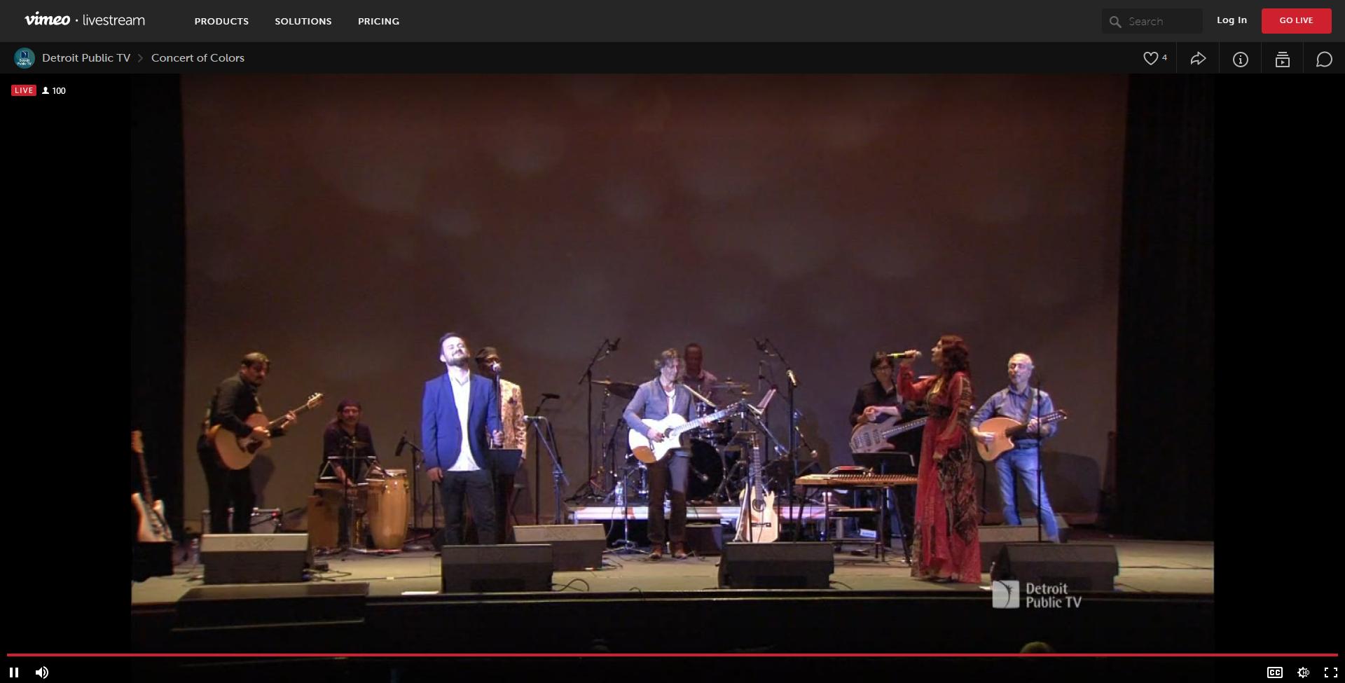 Screenshot of Sean Blackman, Concert of Colors on PBS, Oct. 8, 2020