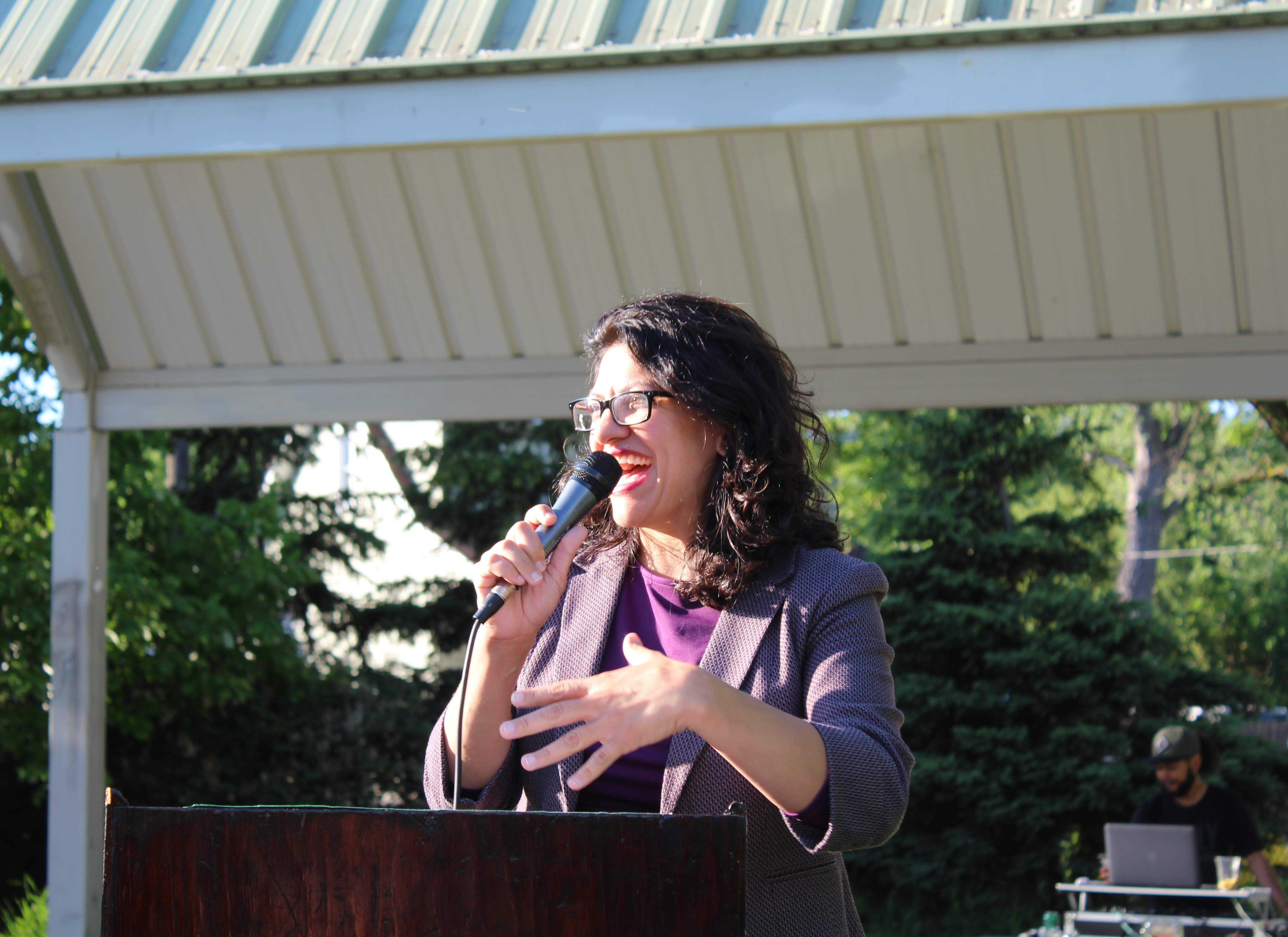 Congresswoman Rashida Tlaib speaking