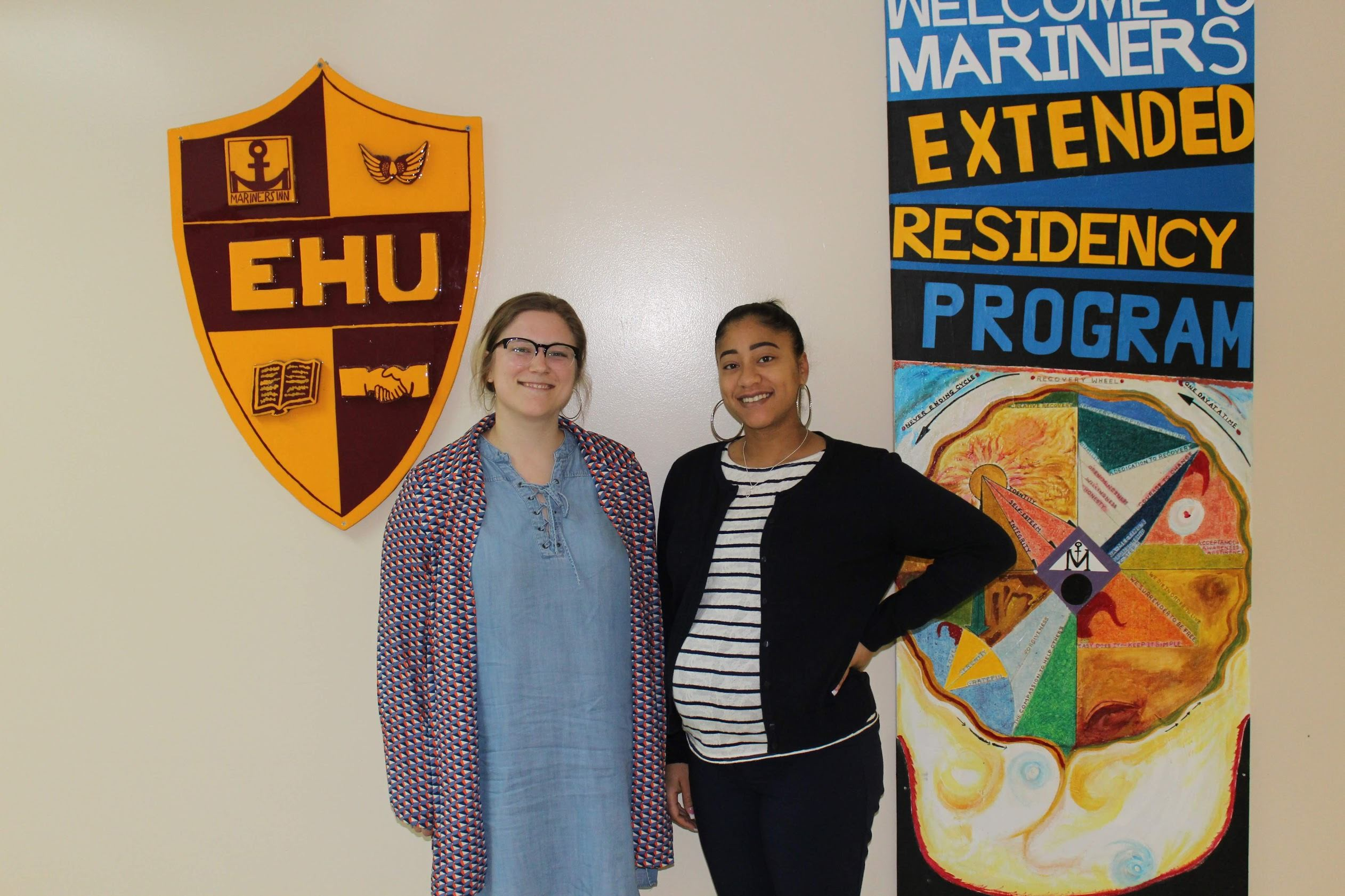 Erica Rakowicz, Mariners Inn community relations director, and Tehilah Tolber, volunteer coordinator