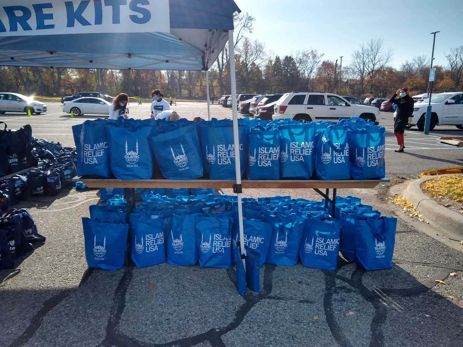 Photo of care bags from Islamic Relief