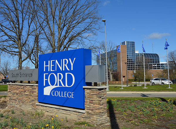 Photo of entrance to Henry Ford College main campus.