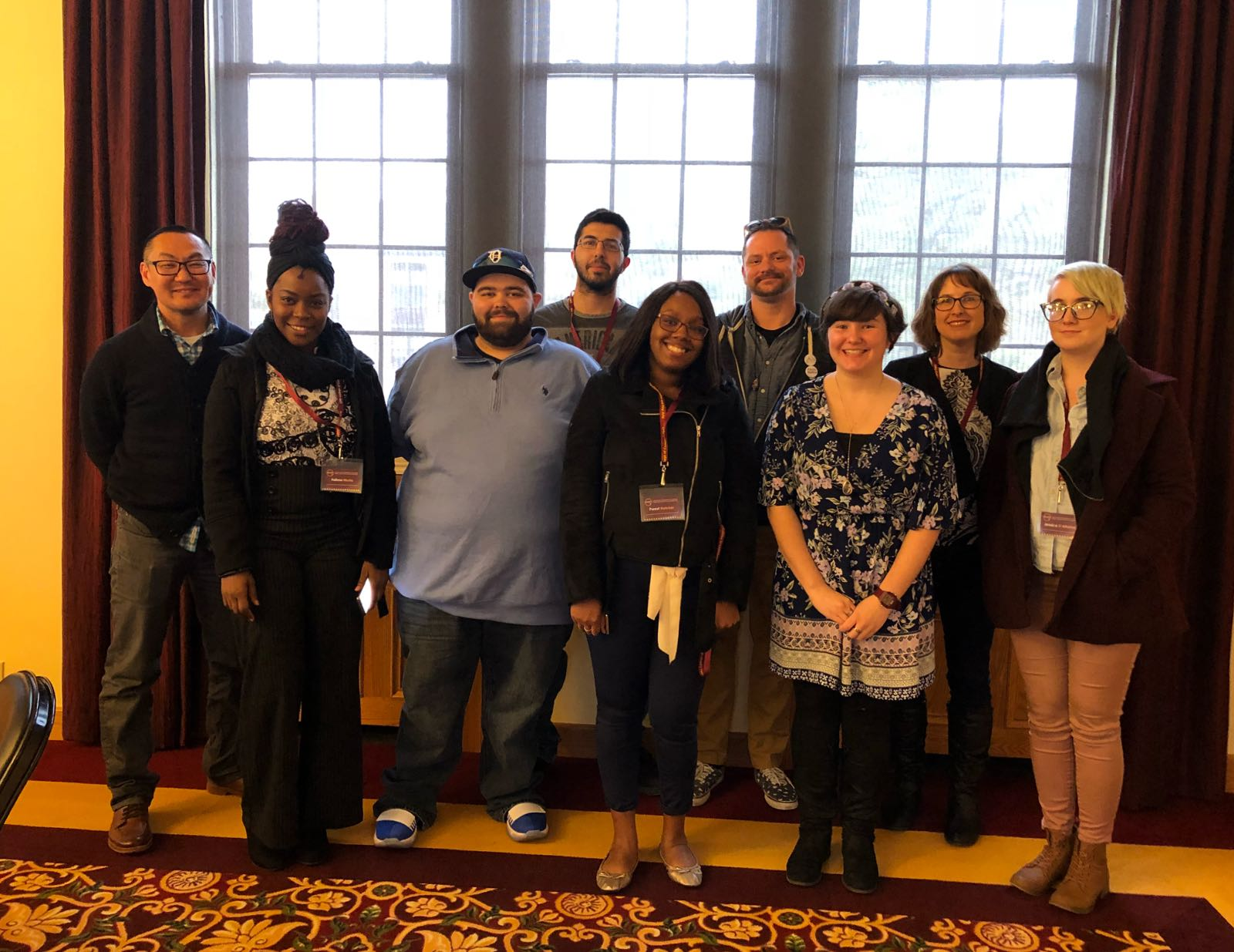 Mirror News staff pictured at 2018 MCCPA conference at Central Michigan University.