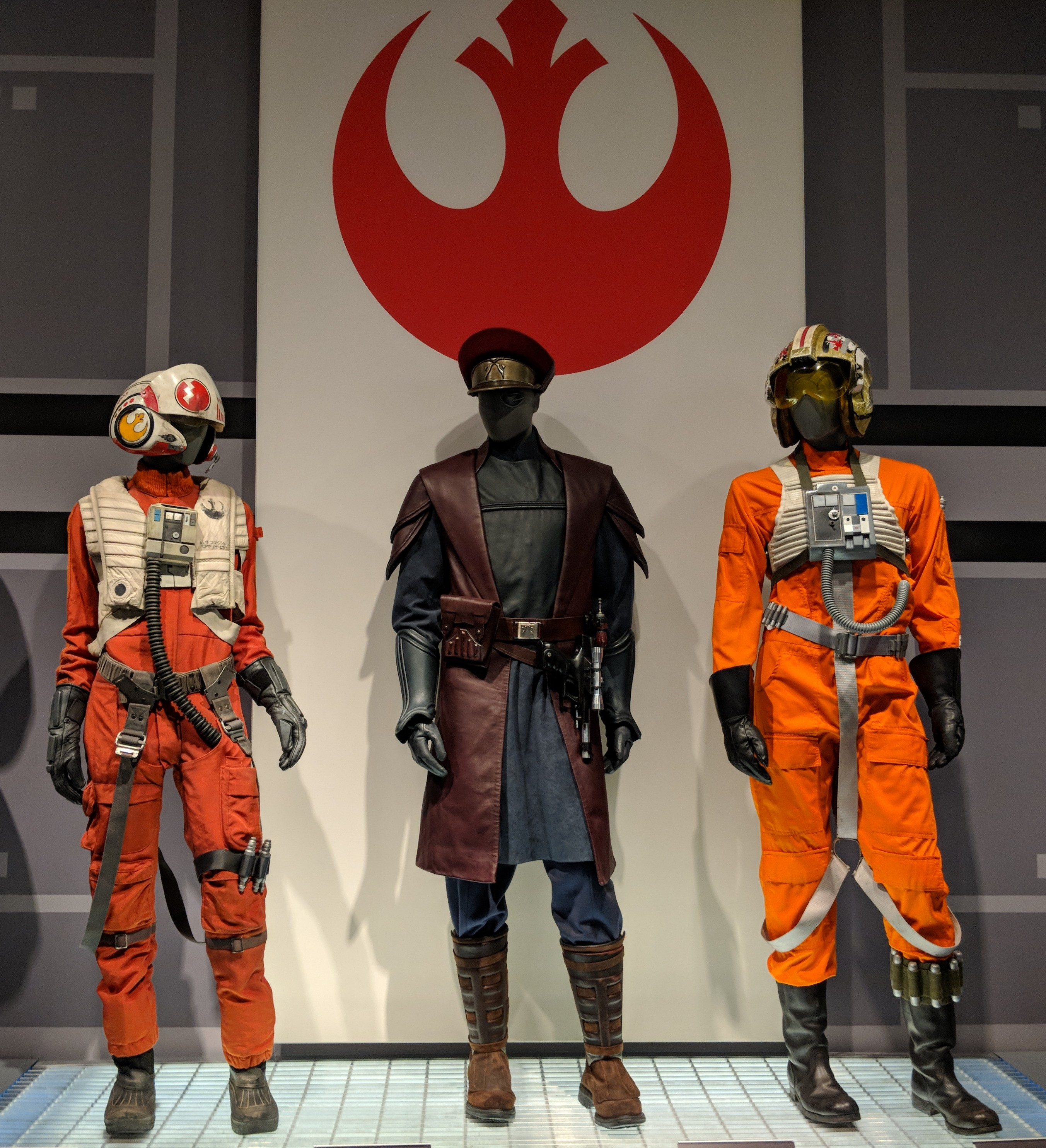 Photo showcasing Rebel Alliance Military costumes from Star Wars