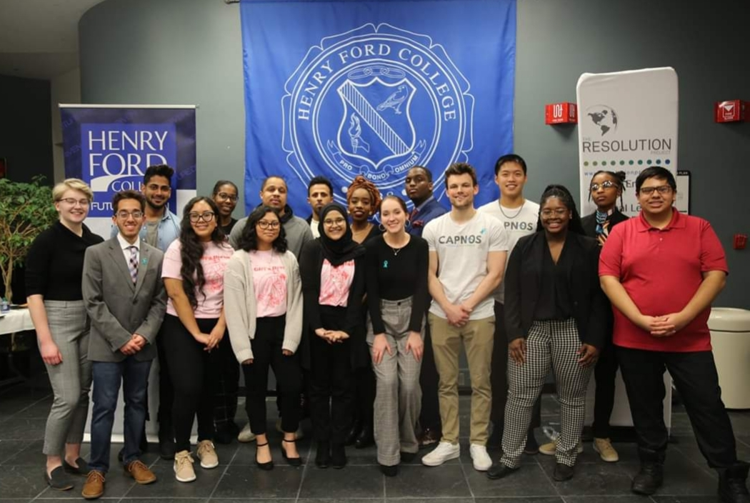 Image shows the contestants for the Social Venture Challenge posing for a photo