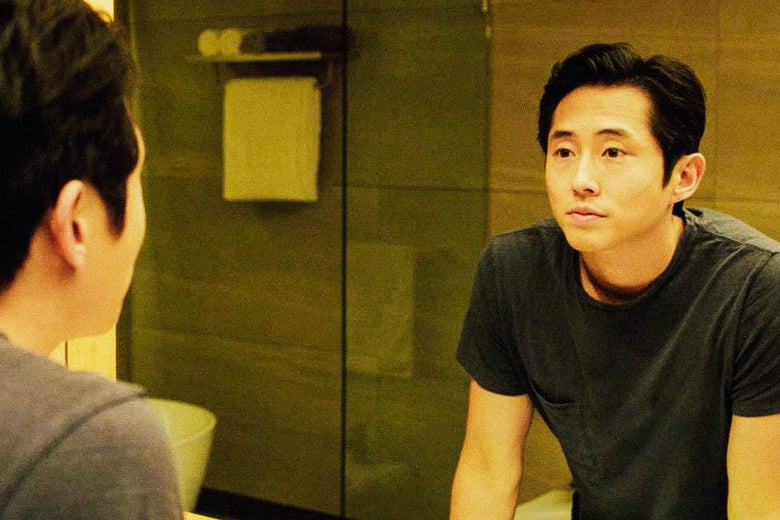 "Image of Steven Yeun from the film ""Burning"""