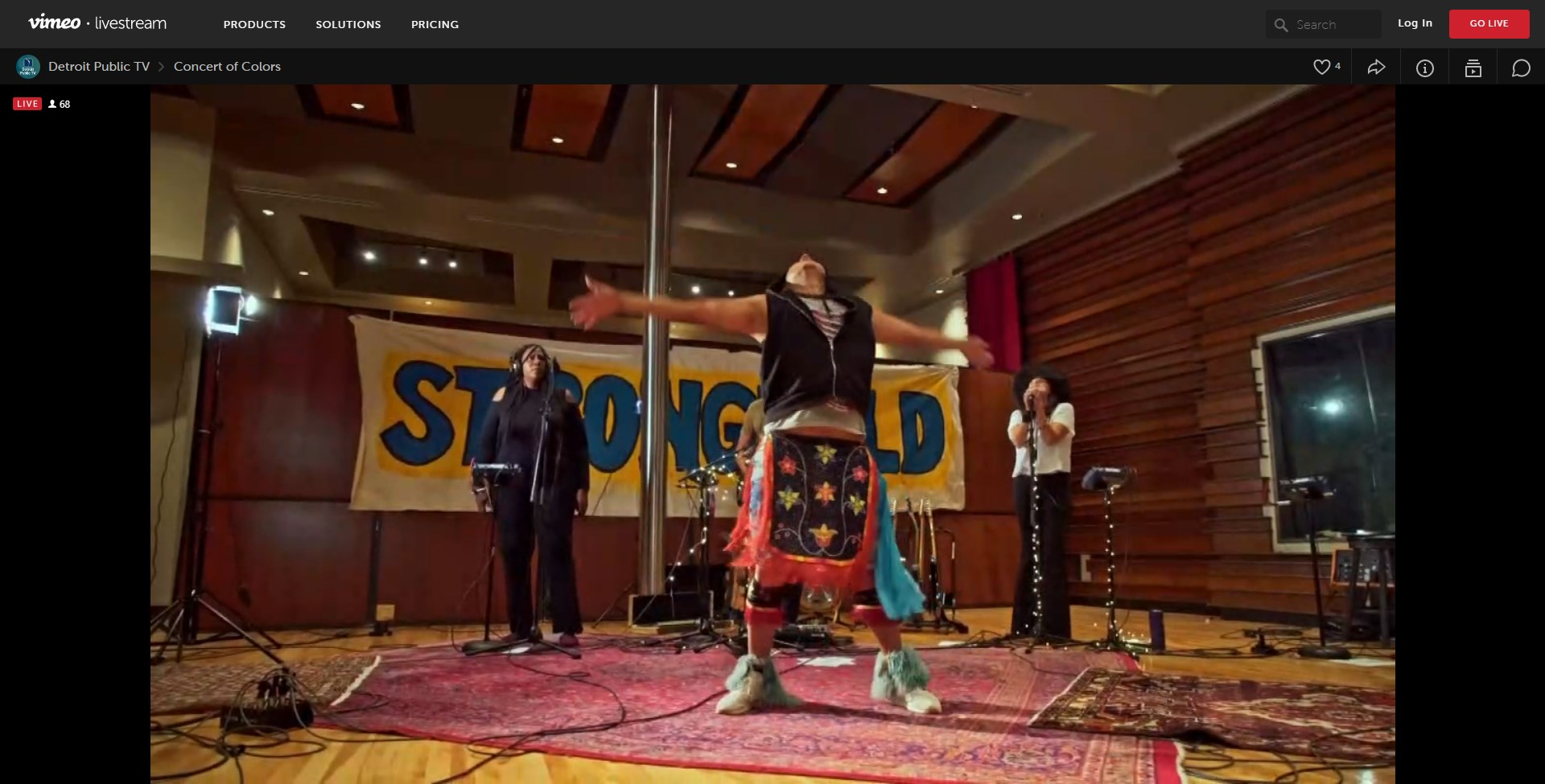 Screenshot of Digging Roots performing at Concert of Colors on PBS, Oct. 8, 2020