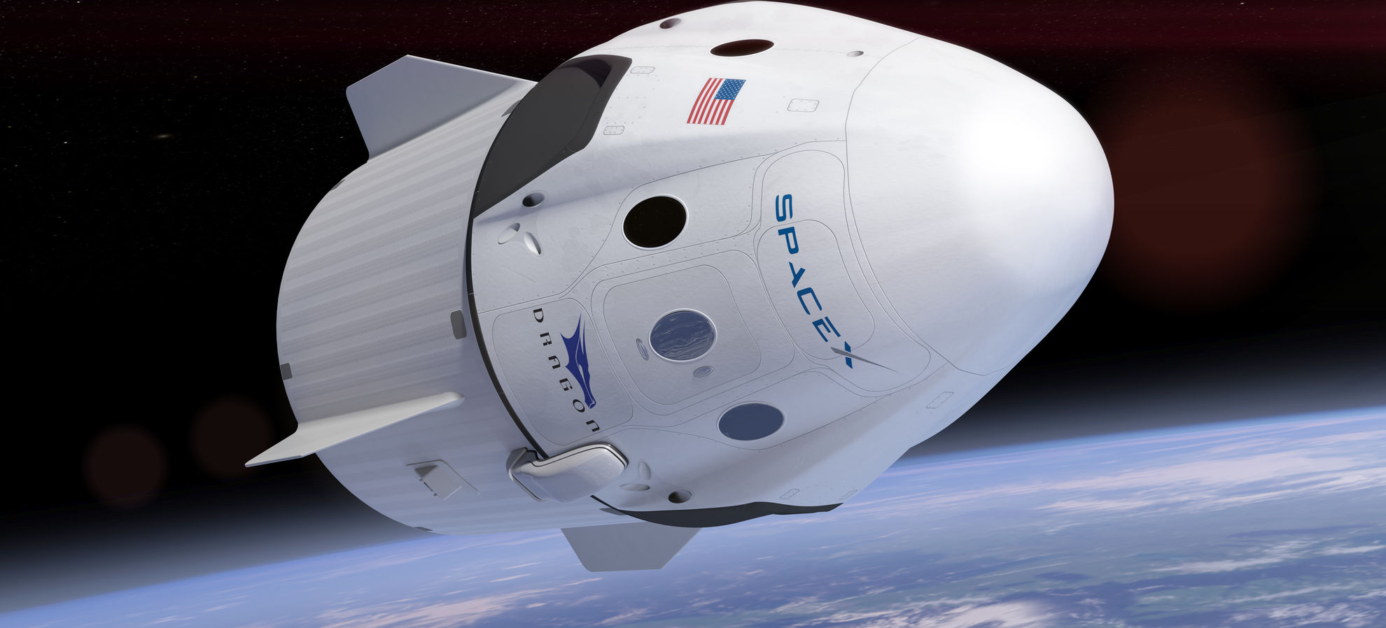 Artist rendering of SpaceX mars rocket