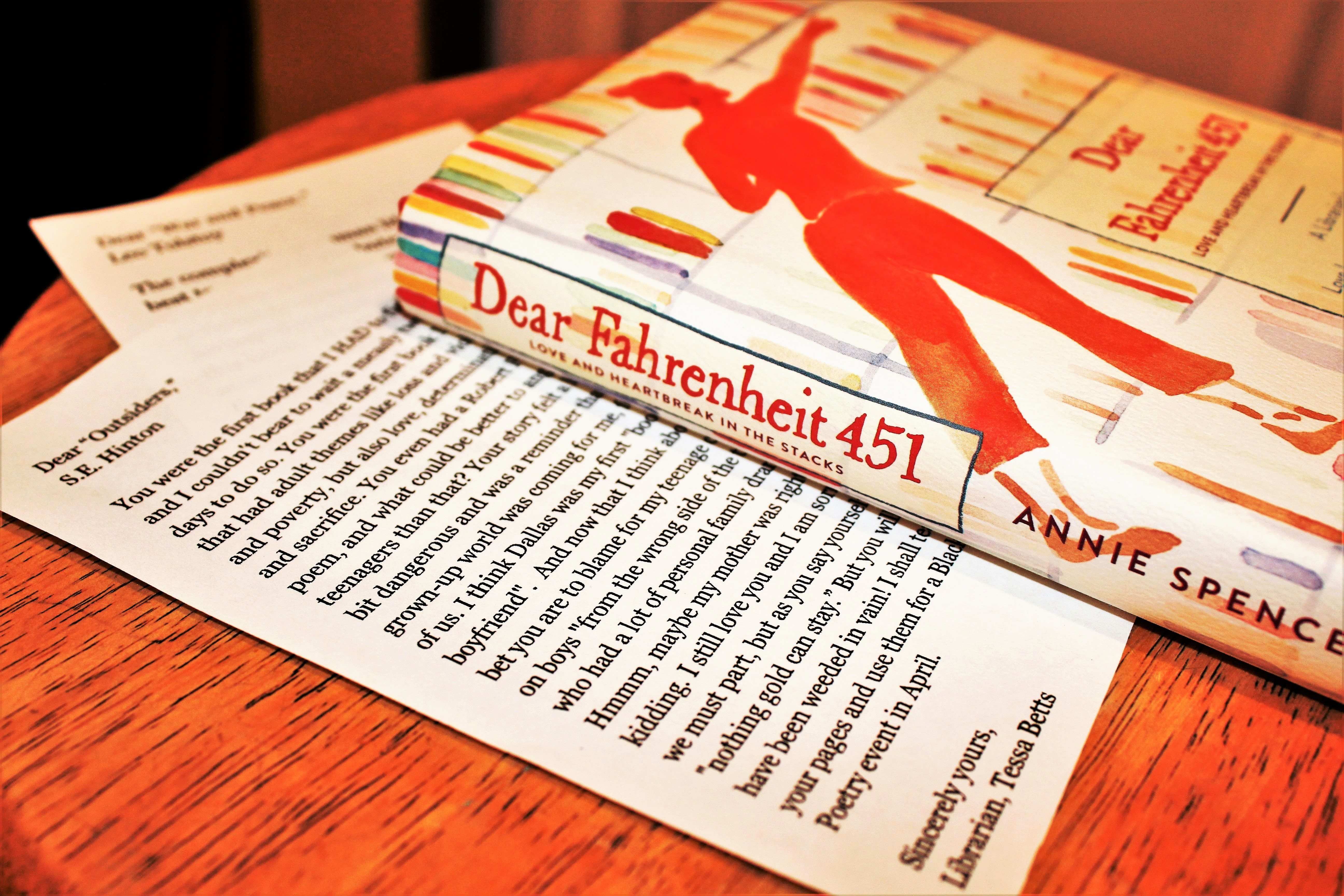 "Image of the book ""Dear Fahrenheit 451"""