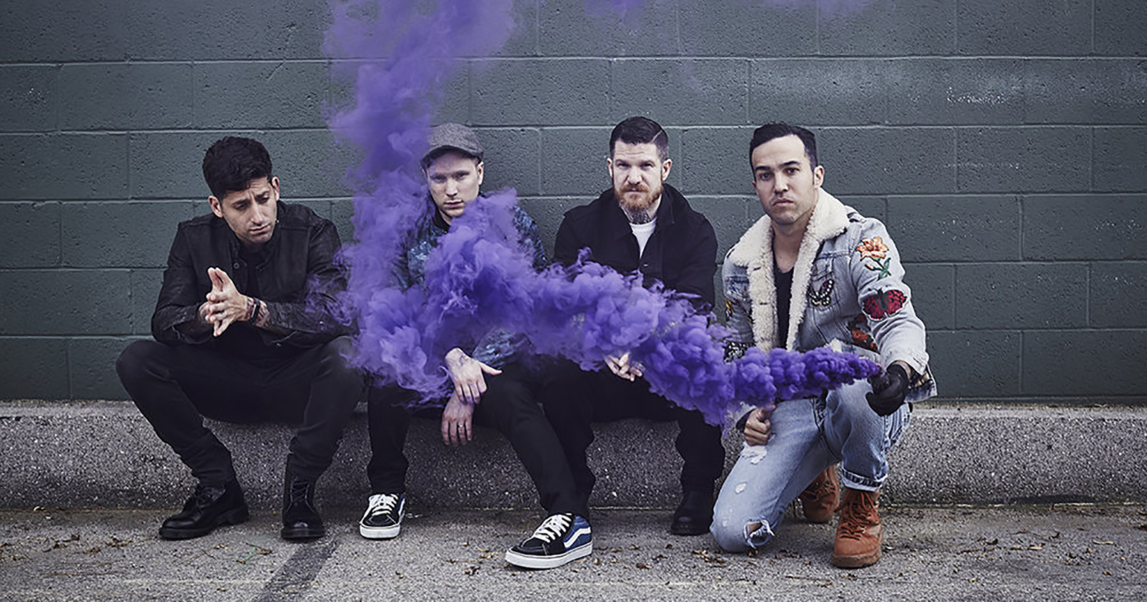 A picture of the Fall Out Boy Band