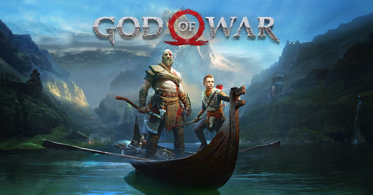 Promotional image showing Kratos and Atreus from God of War