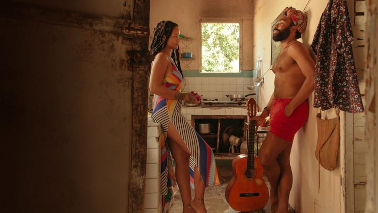 Guava Island scene with Donald Glover and Rihanna