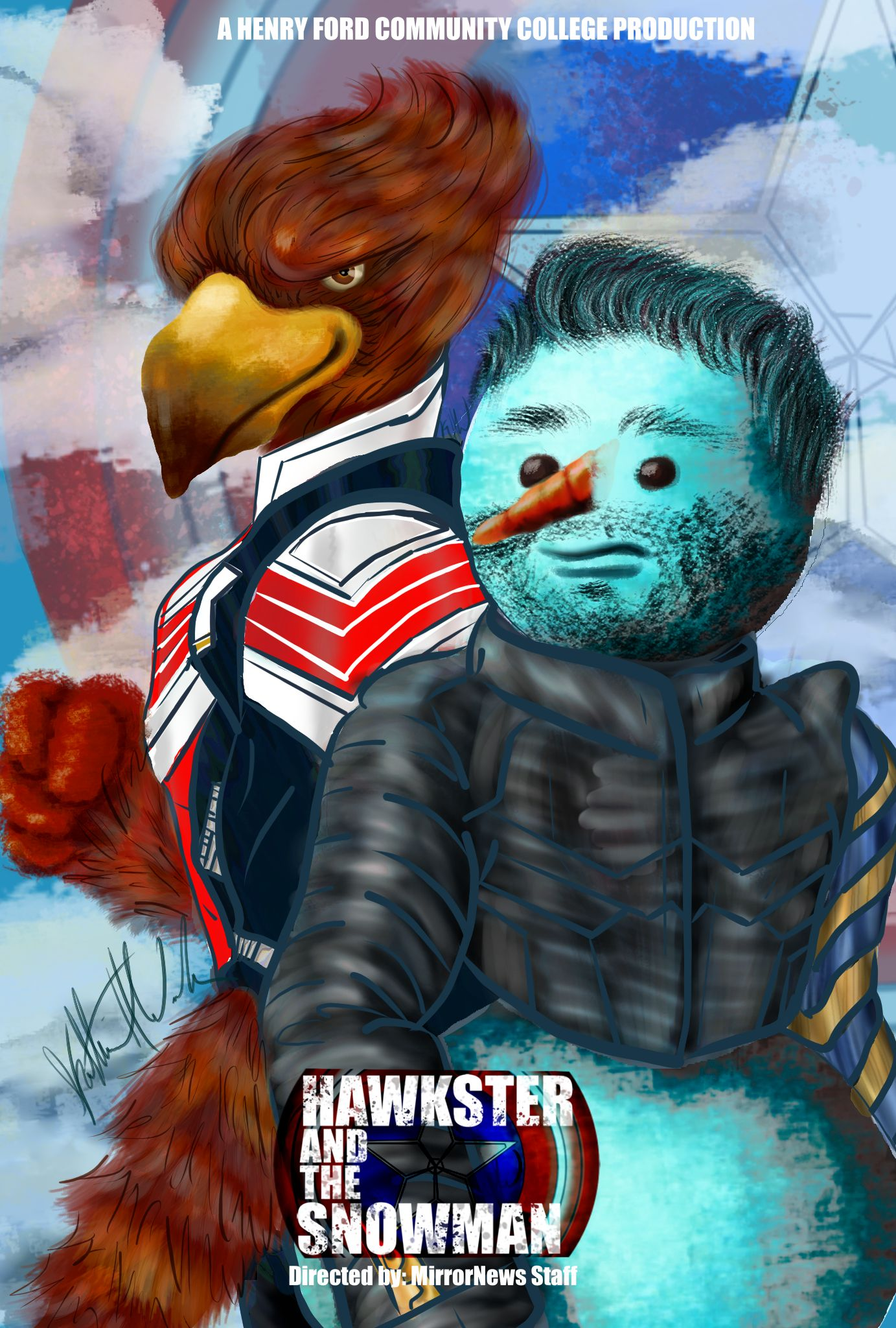 Spoof of Falcon and the Winter Soldier using Hawkster and the Snowman