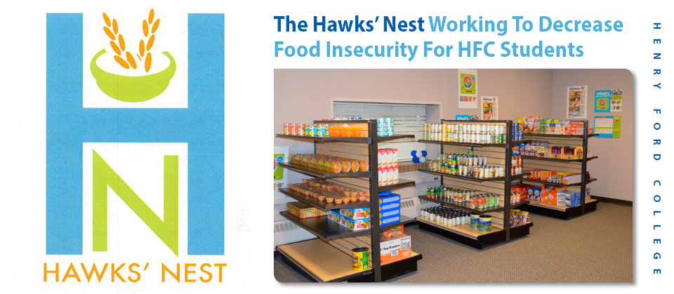 Photo of HFC's Hawk Nest food pantry