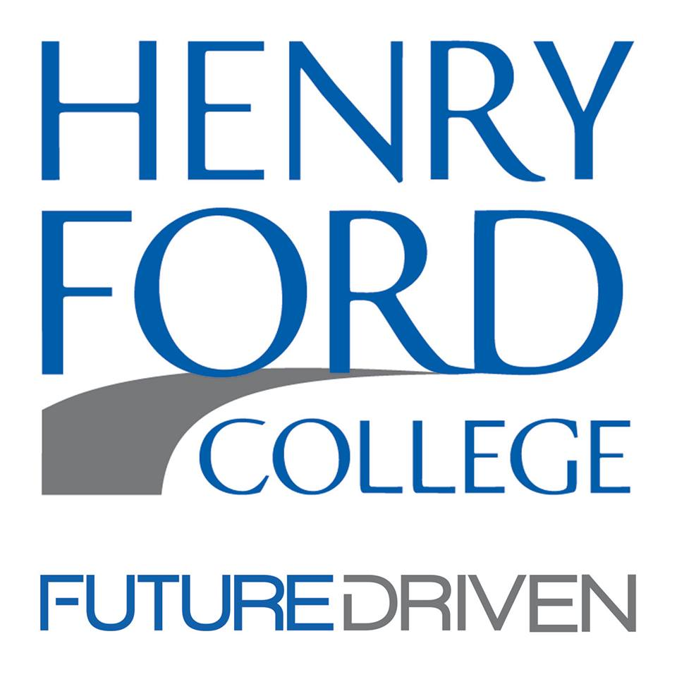 "Image of Henry Ford College logo with the ""Future Driven"" slogan"