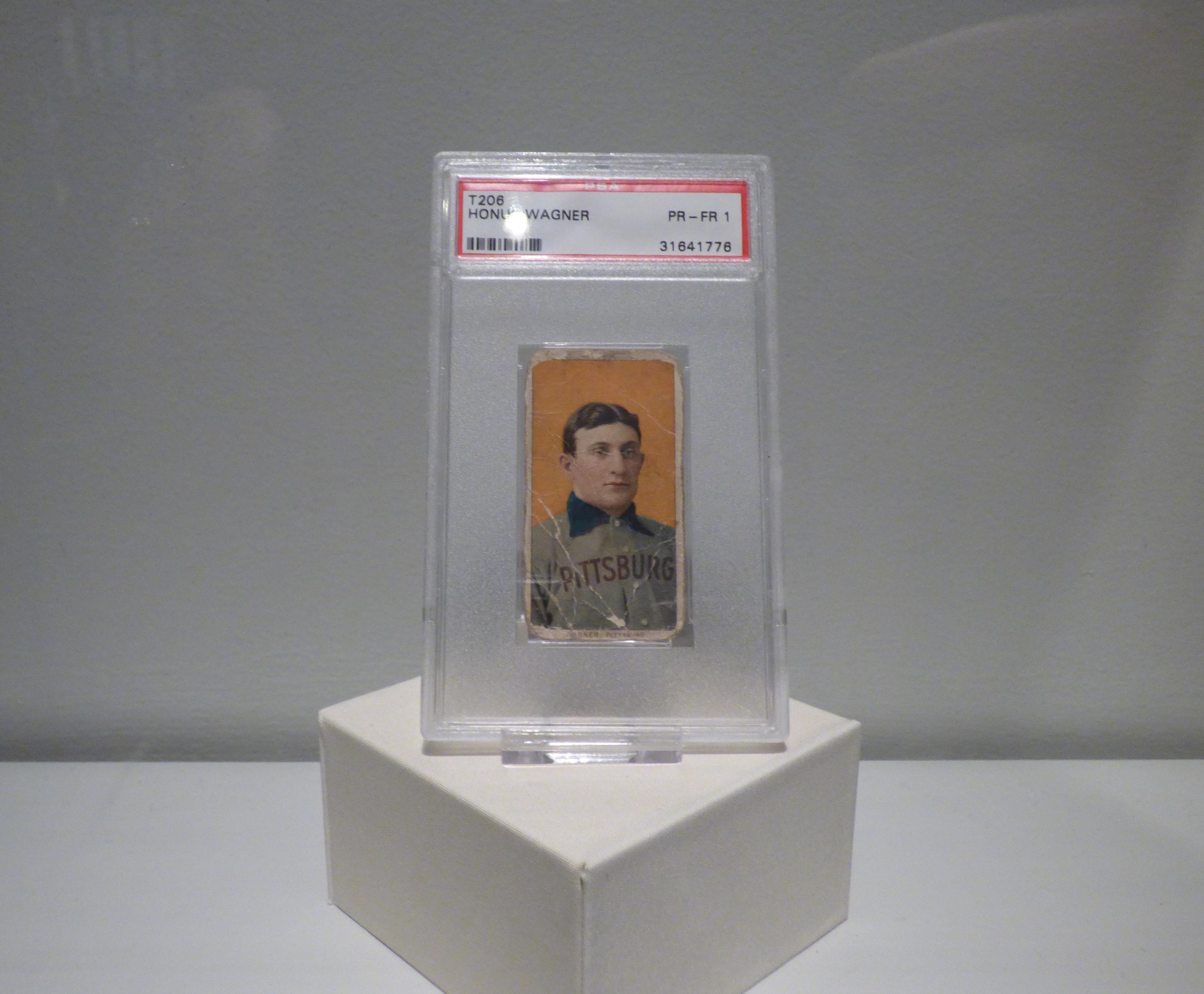 Photo of T206 Honus Wagner Baseball Card