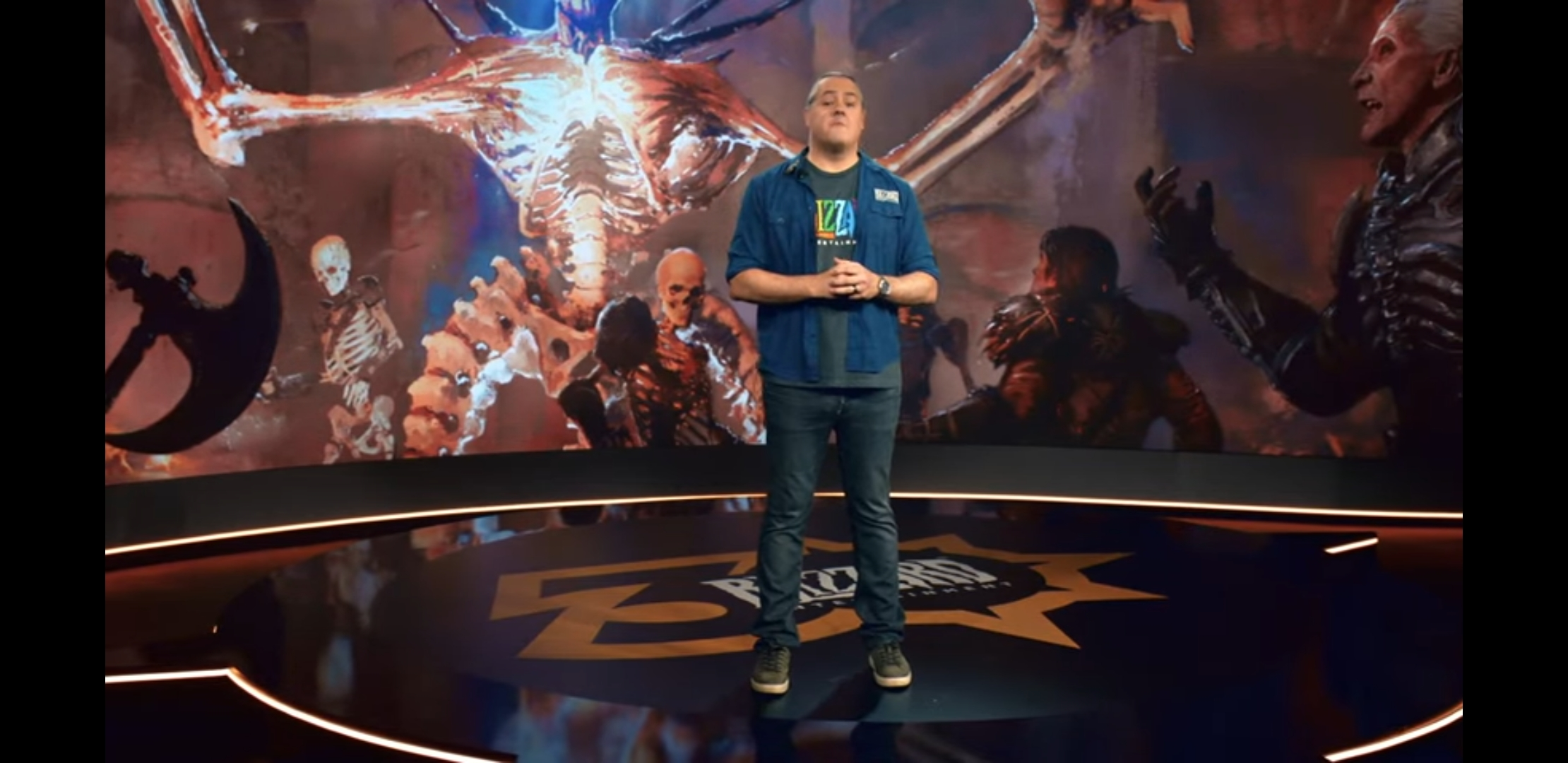 J. Allen Brack, President of Blizzard on stage at Blizzcon's virtual 2021 conference