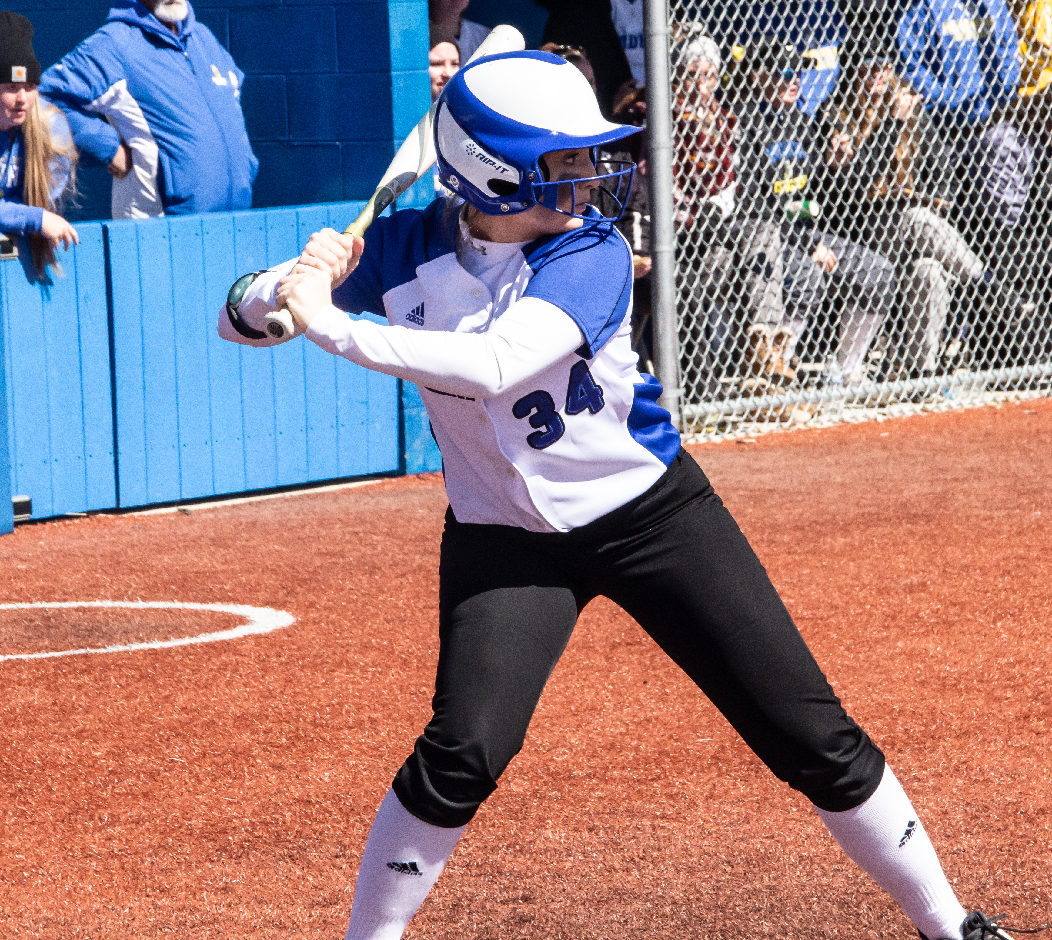 Photo of Jacyln Clark batting for the Hawks Softball team