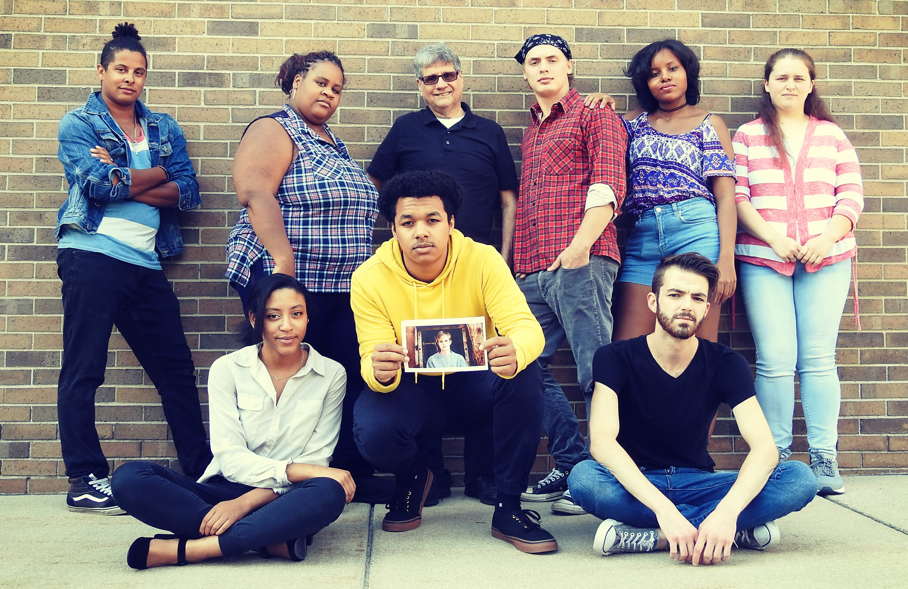 "Photo of the cast of ""The Laramie Project."""