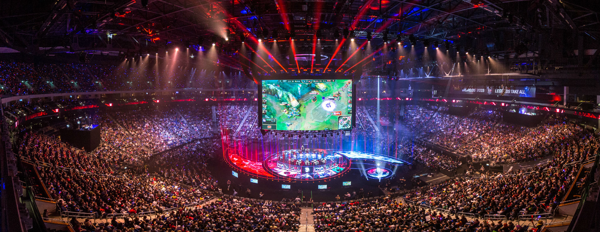 Photo shows a League of Legends World Championship