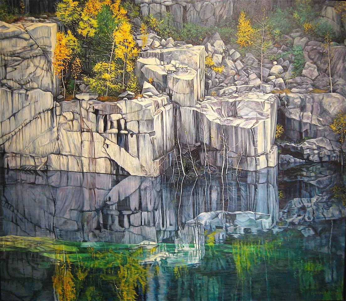 Landscape painting by Lucille Nawara