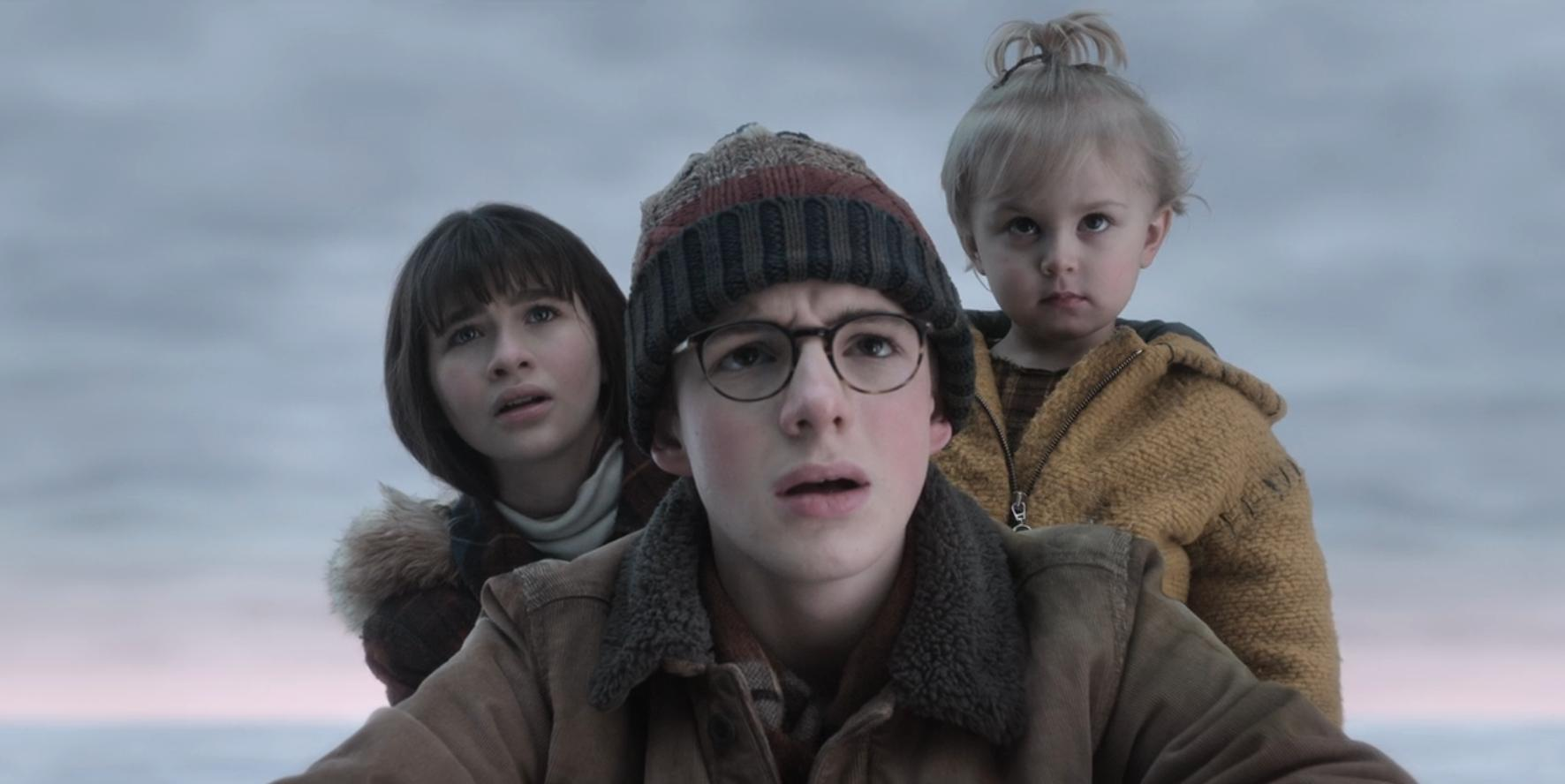 "Image of the three Baudelaire children from ""A Series of Unfortunate Events"""