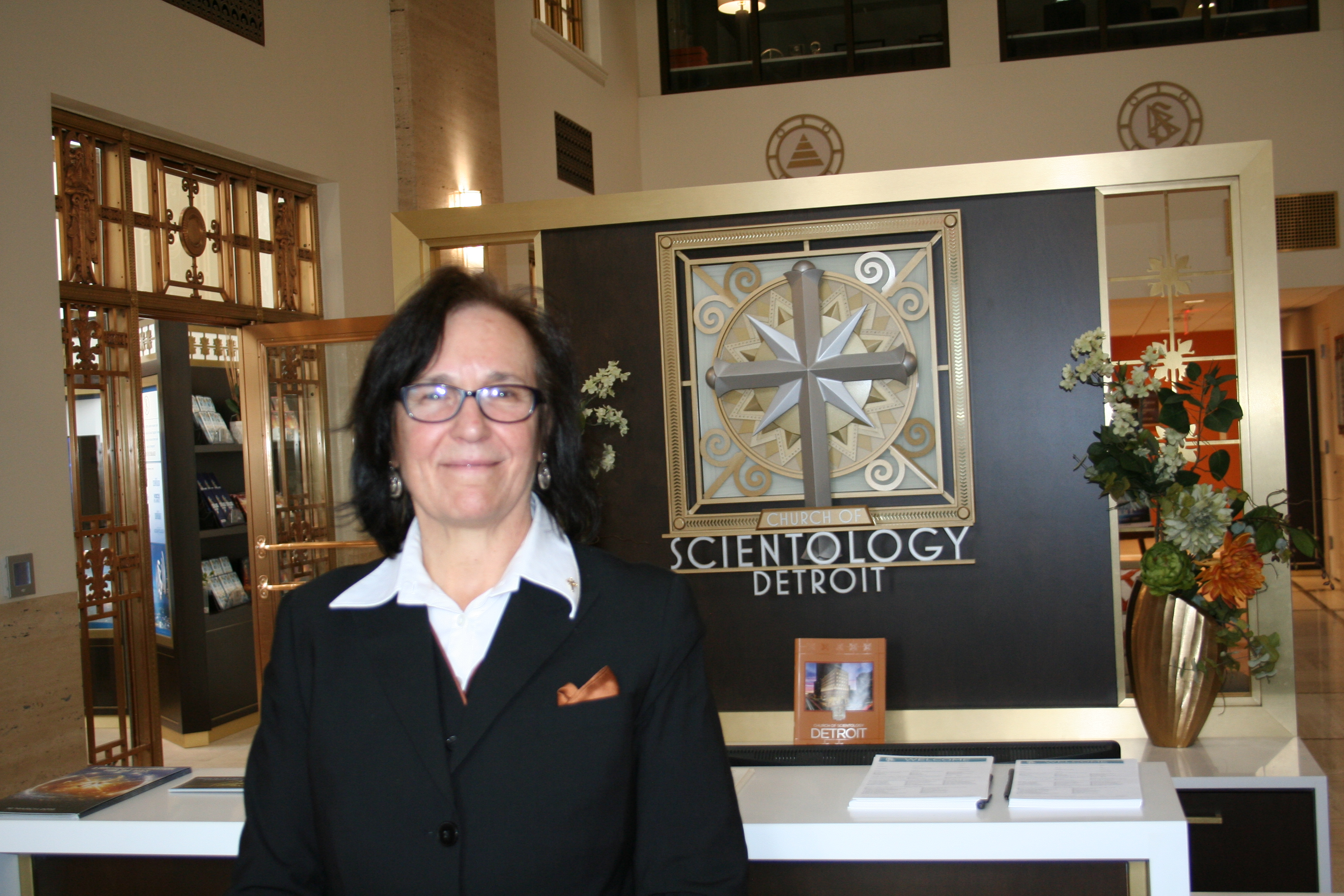 Photo of Rev. Monika Biddle at the Church of Scientology of Detroit