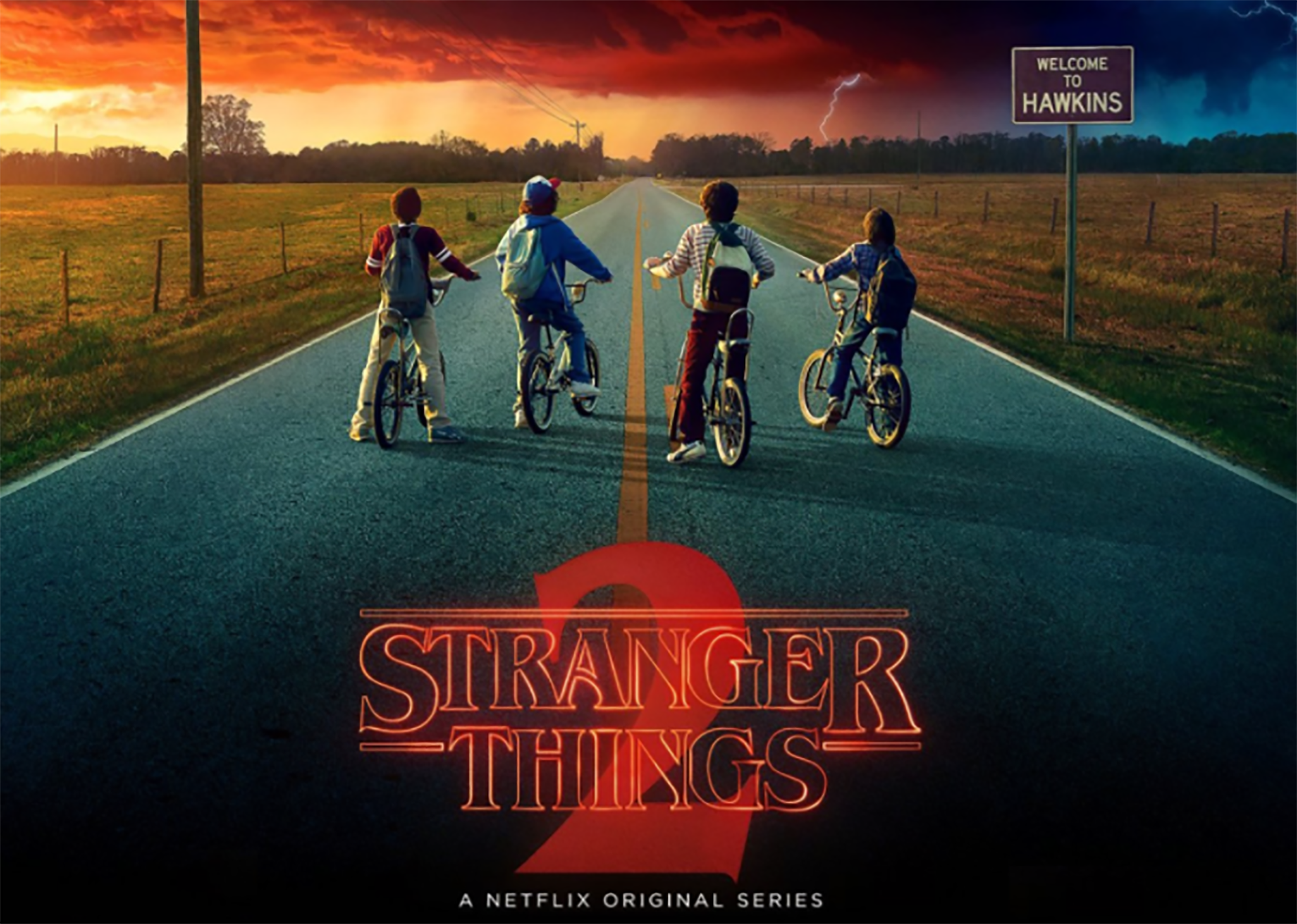 Poster of the series stranger things