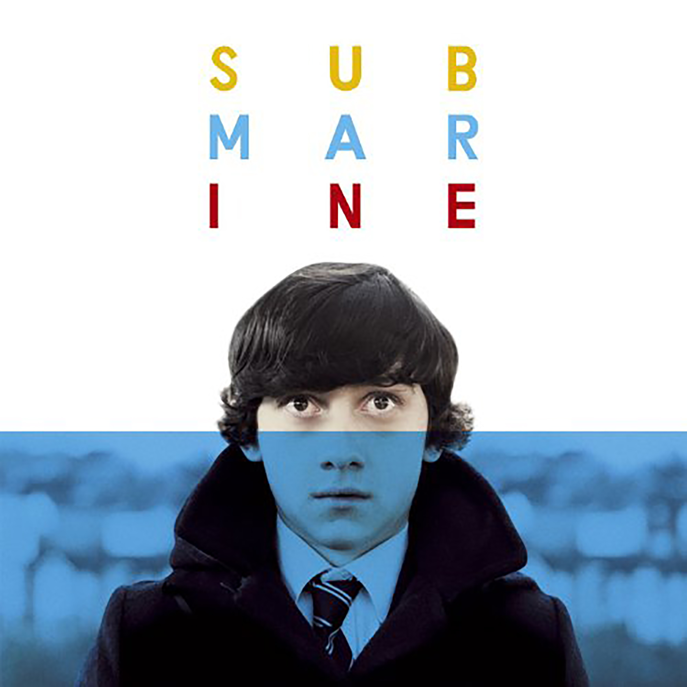 Submarine movie poster featuring the main character Oliver