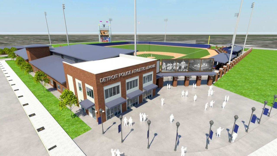 Willie Horton Field of Dreams drawing of future stadium