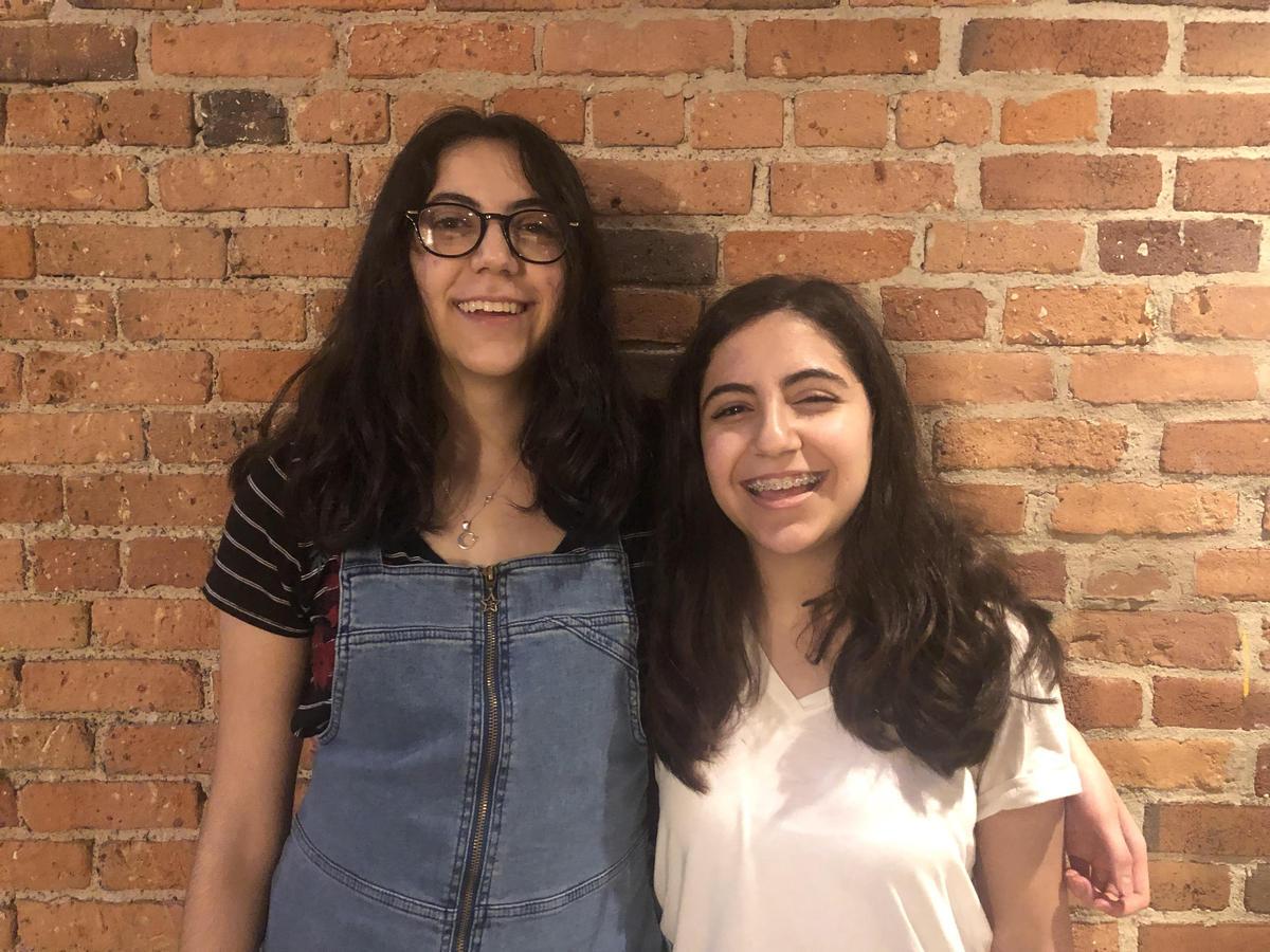 Image of sisters Zena and Mena Nasiri