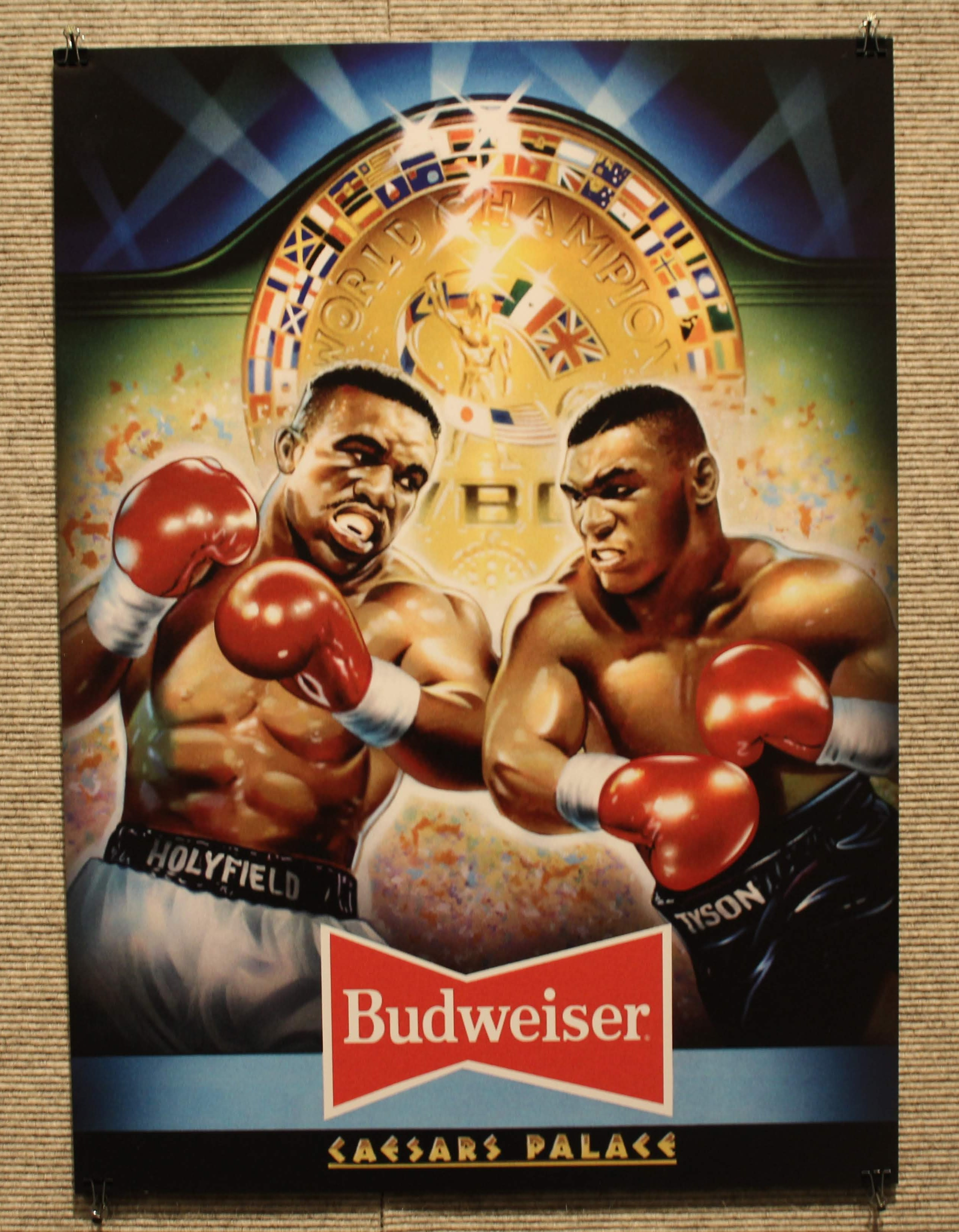 Image of a poster of an Evander Holyfield versus Mike Tyson fight