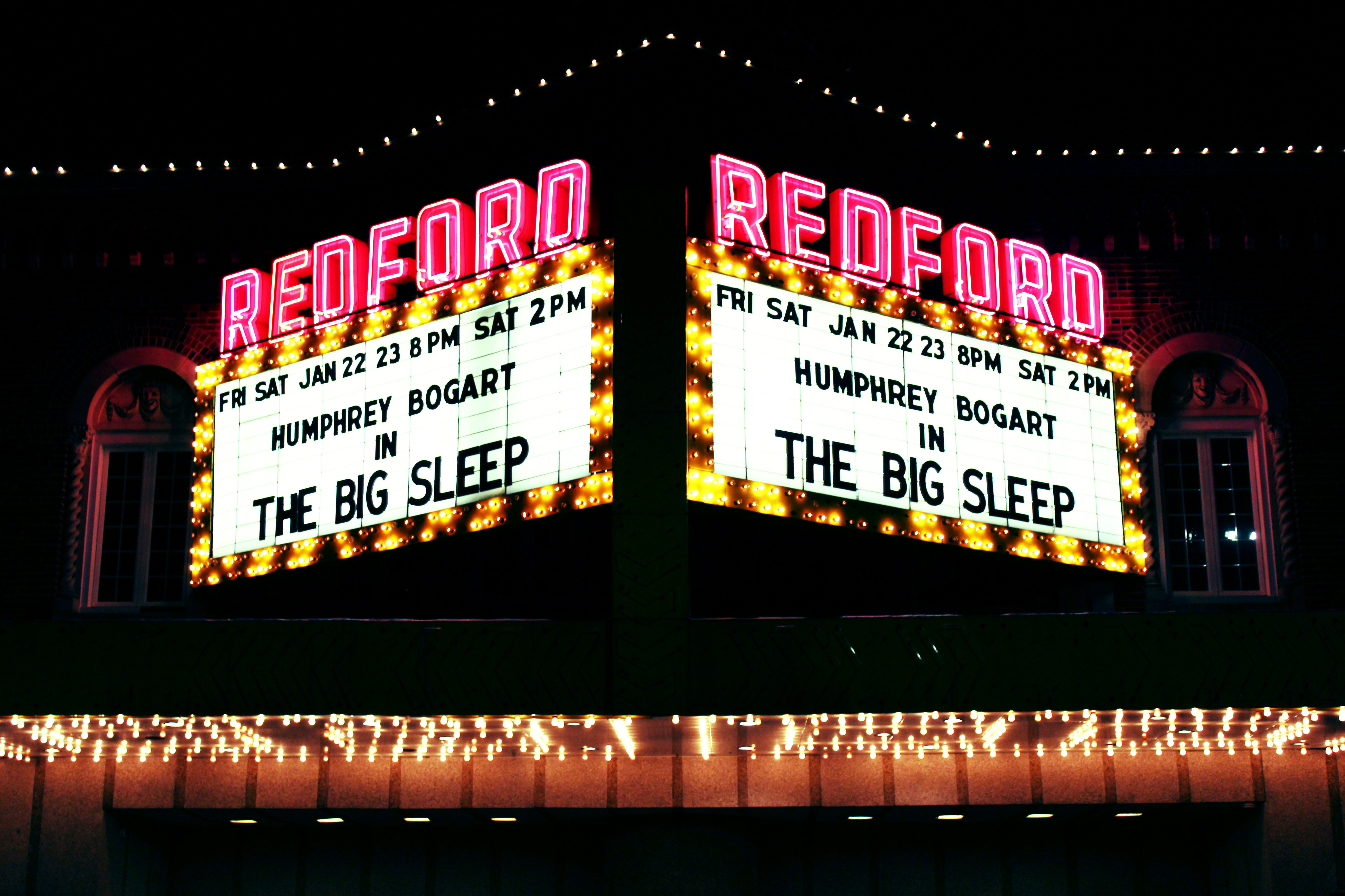 Redford Theater Sign