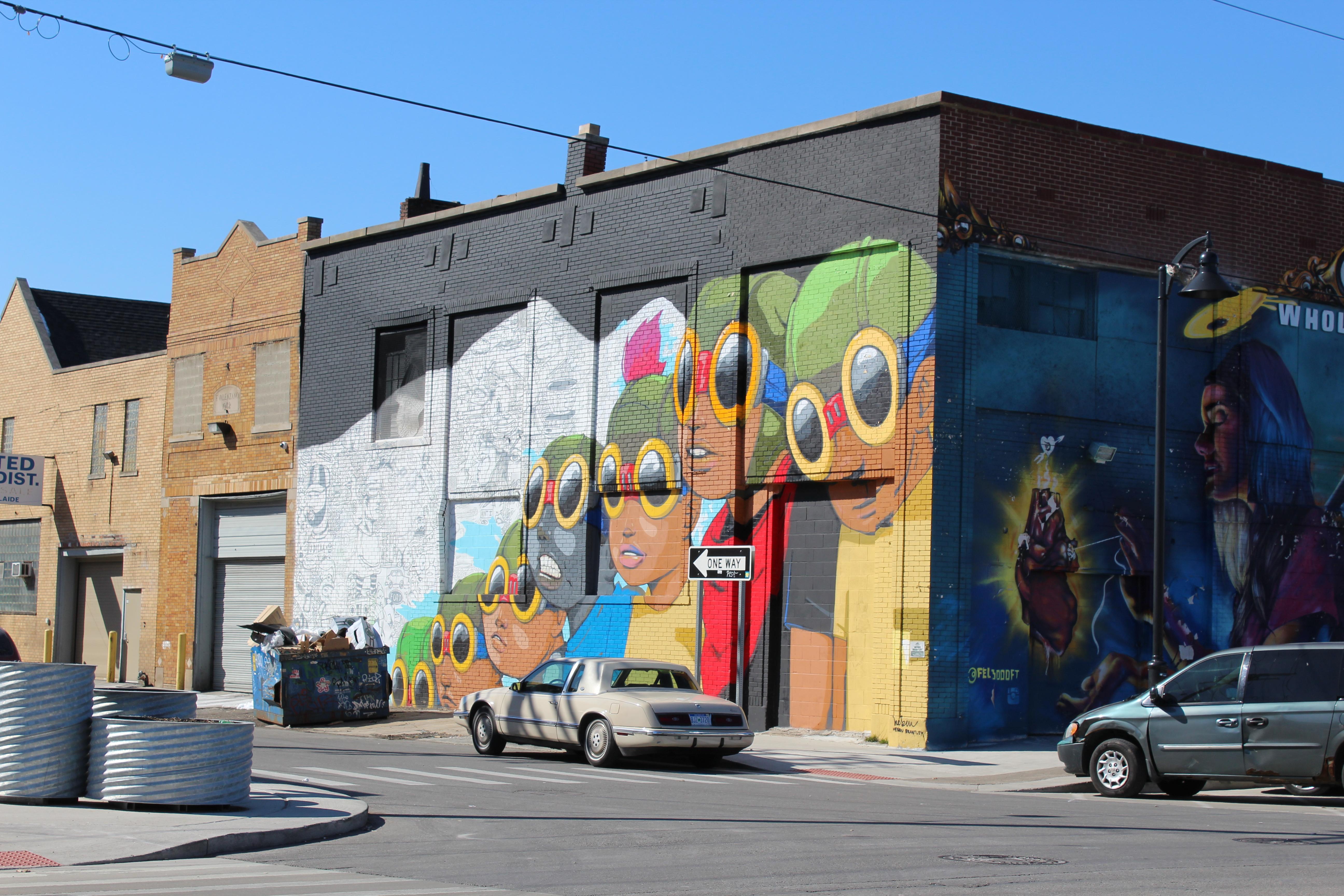 Large brick mural