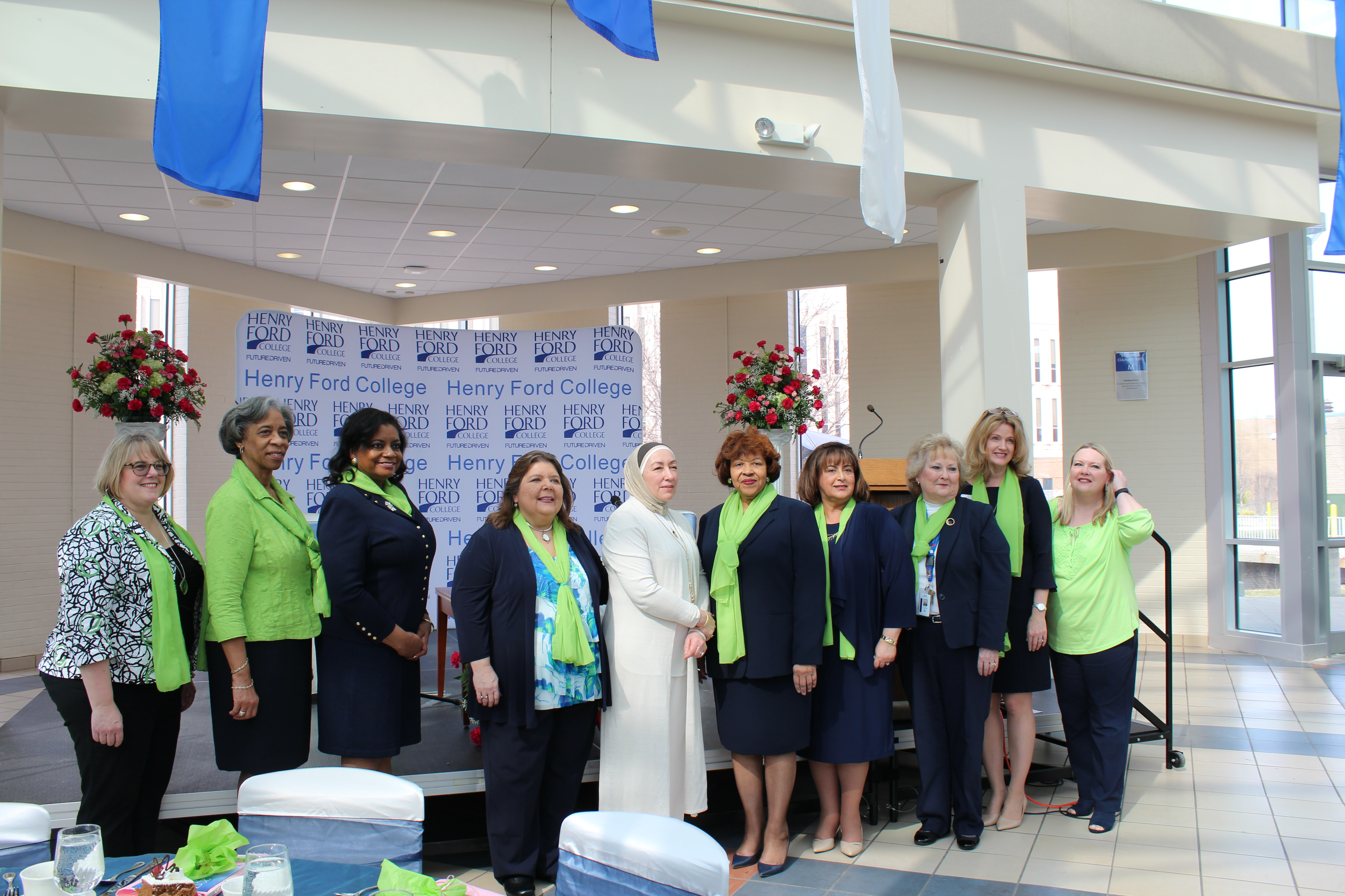 Group picture of women at the 44th annual women's luncheon
