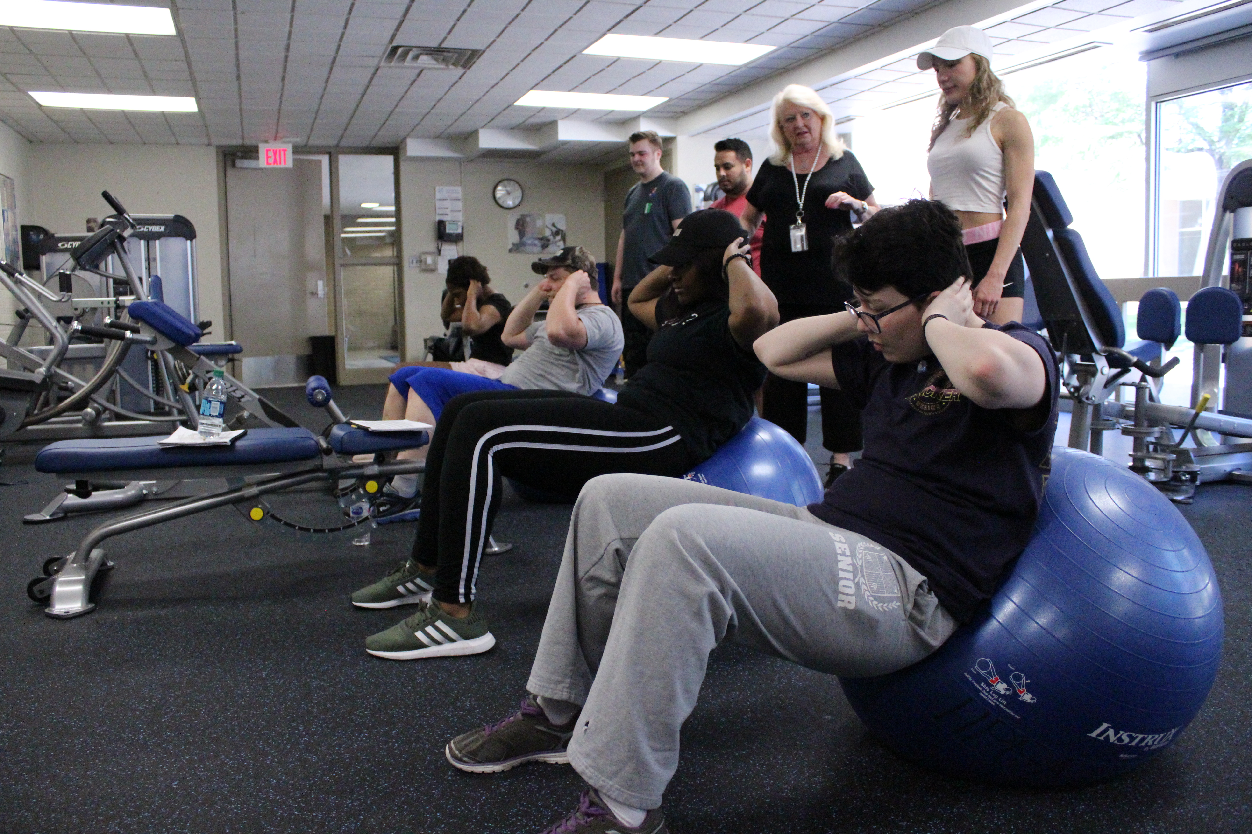 Photo of fitness class using exercise balls
