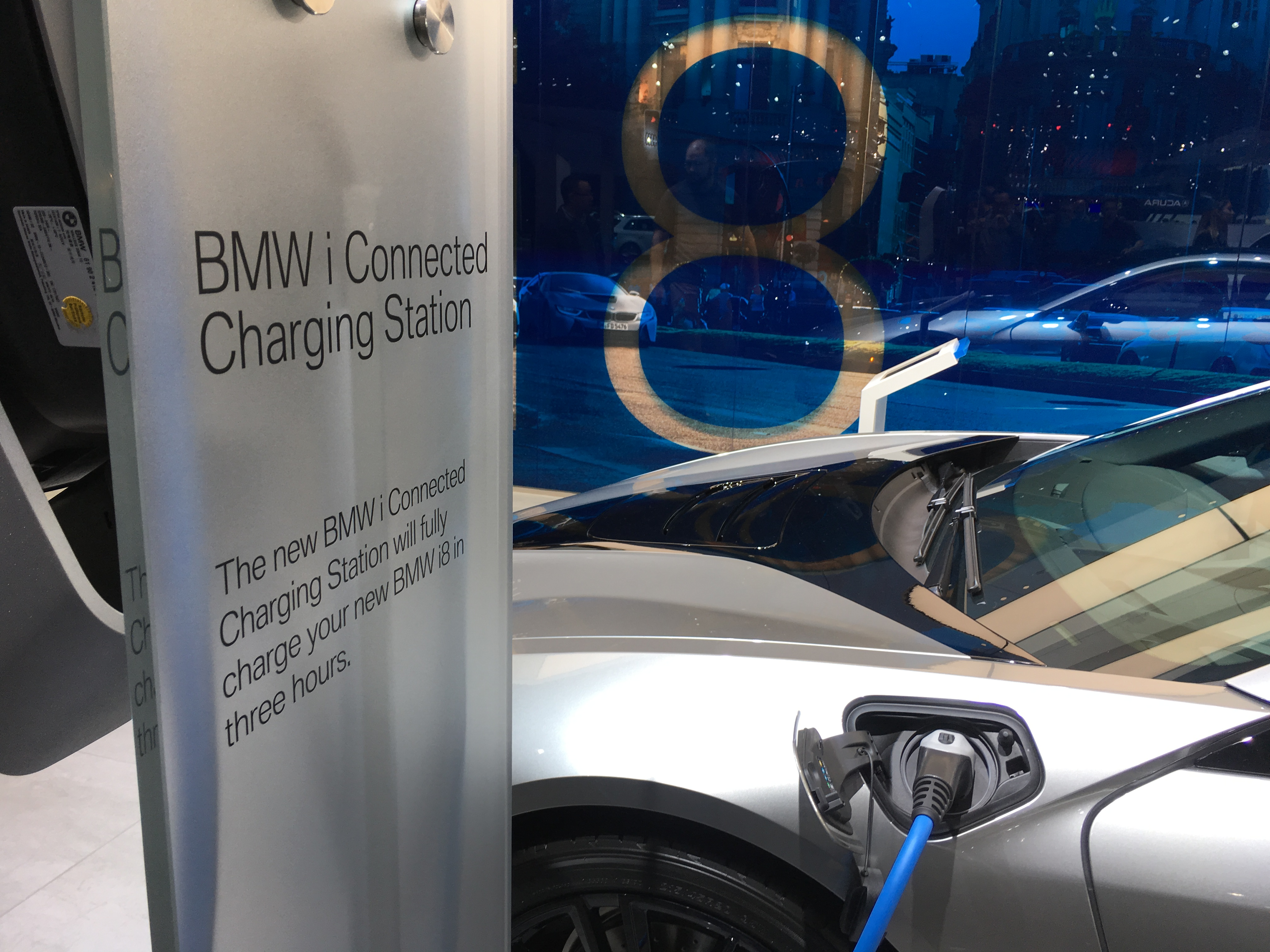 BMW electric vehicle charging station