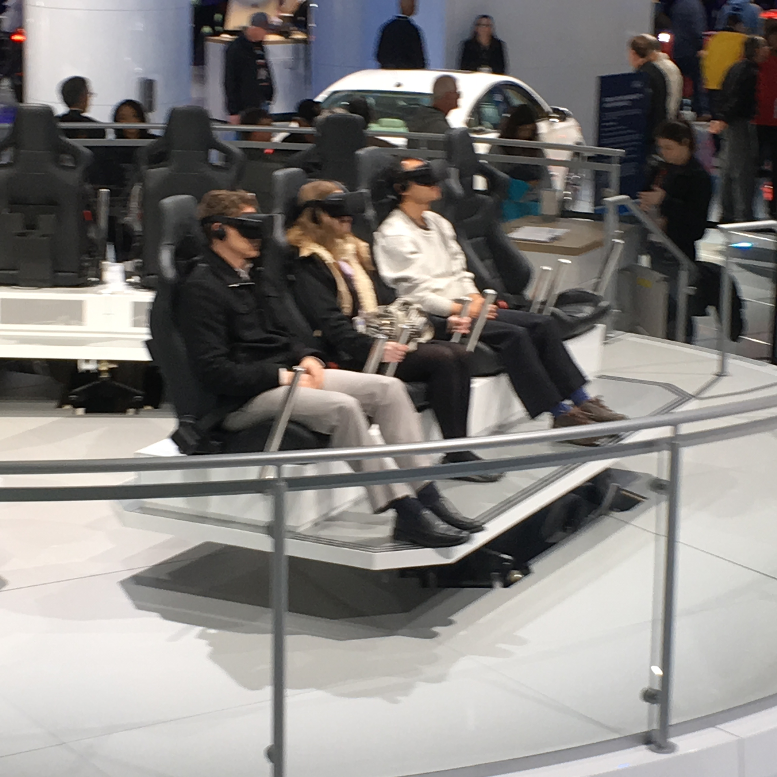 Virtual reality station at 2018 North American International Auto Show in Detroit