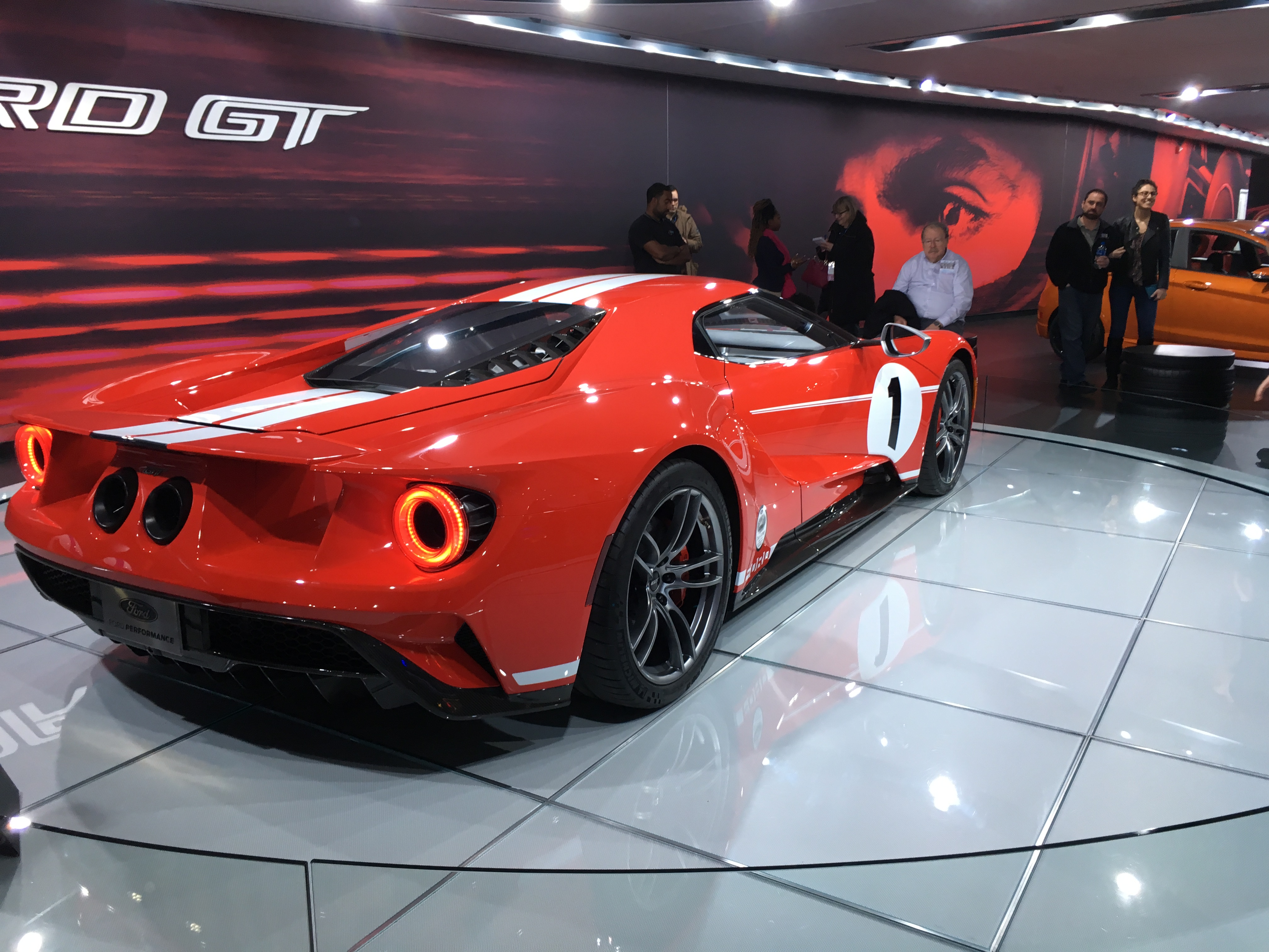 Red Ford GT sports car