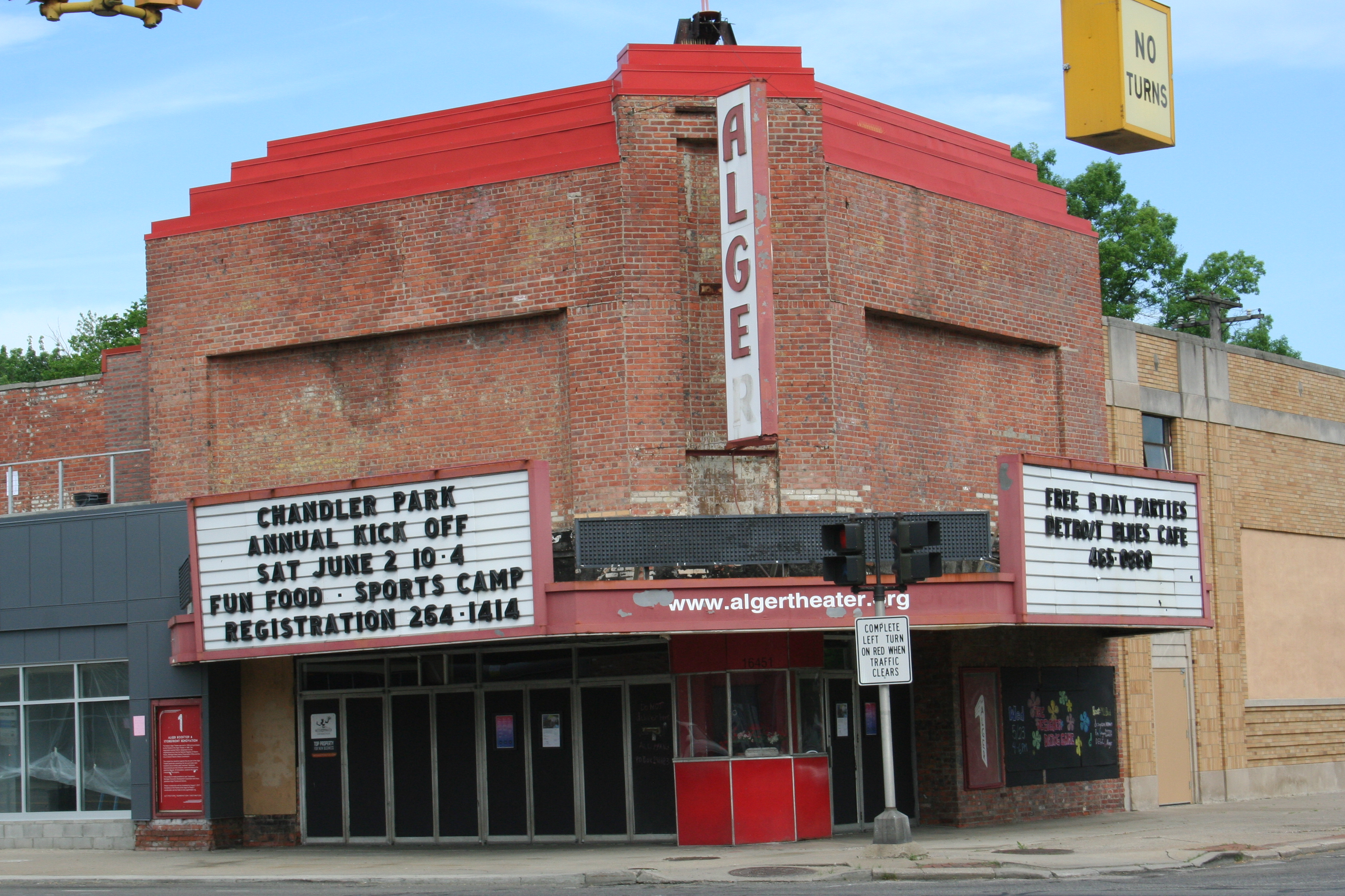 Alger Theater marquee