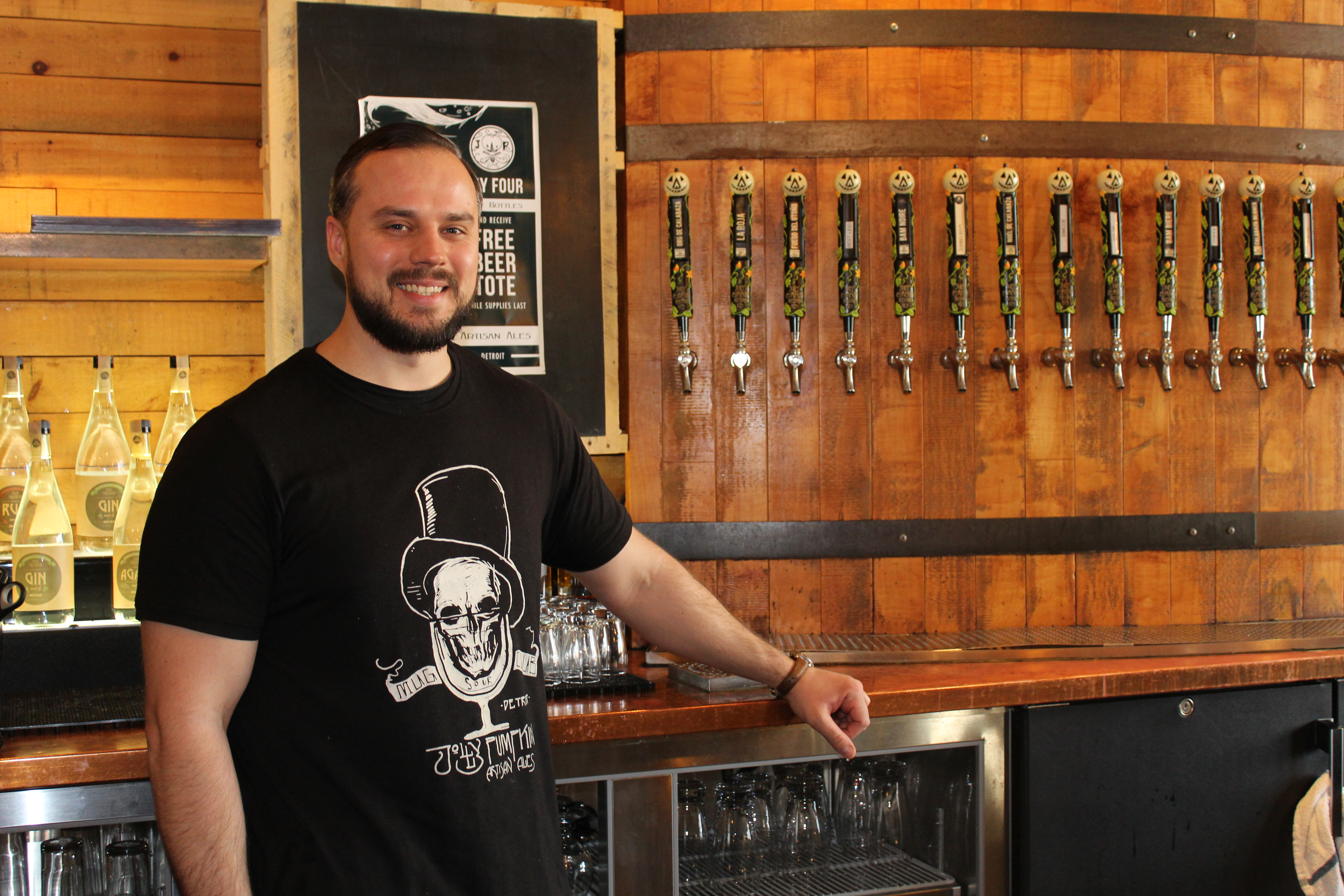 Photo of Jolly Pumpkin bartender, Nolan Ramanauskas