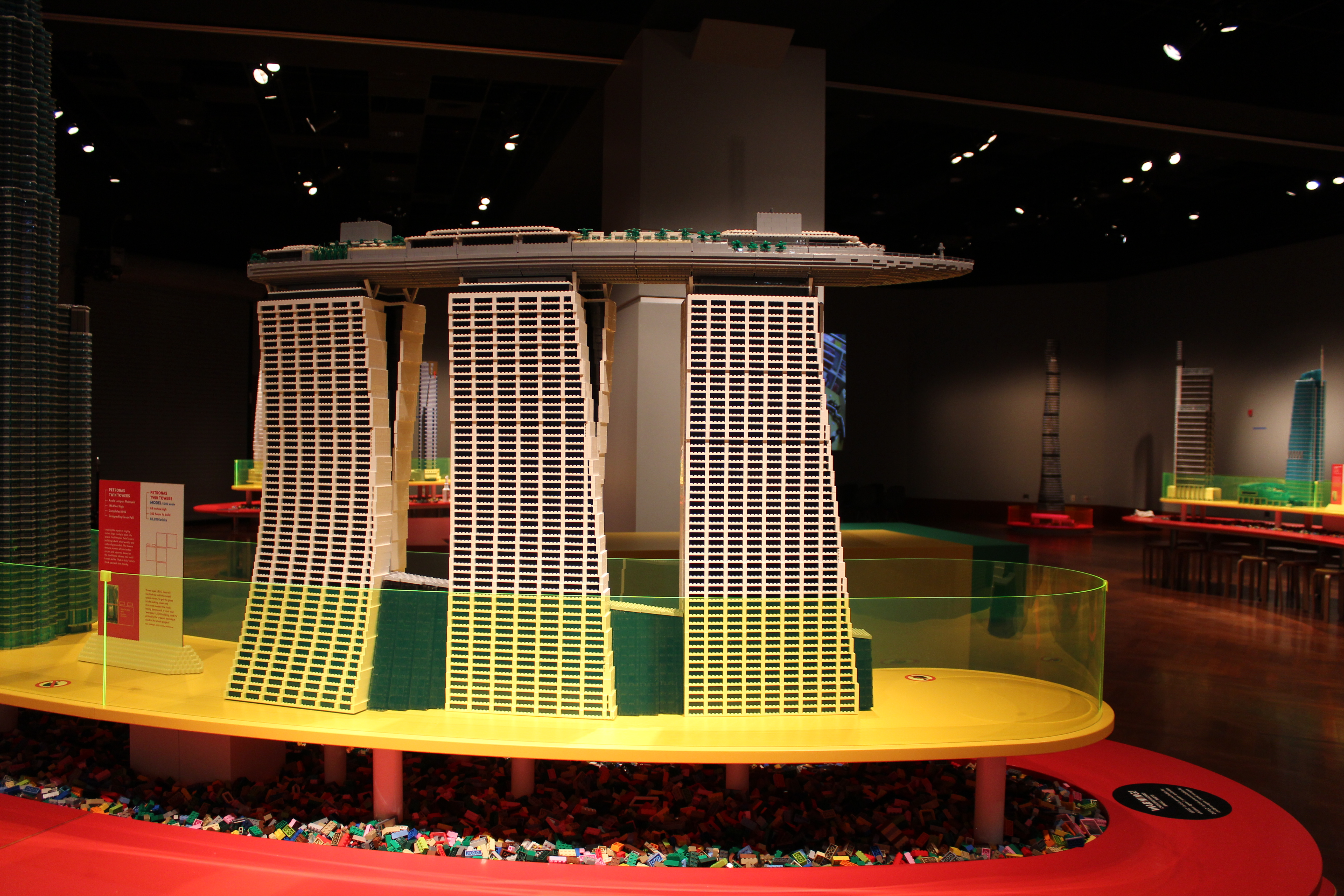 Photo shows a lego replica of the Marina Bay Sands