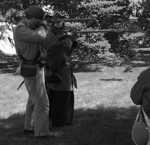 Civil War reenactors at Greenfield Village
