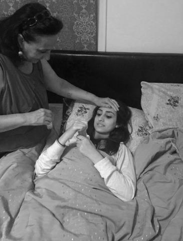 Mother, Rose Zumut, treats sick daughter, Hebah Alzumut