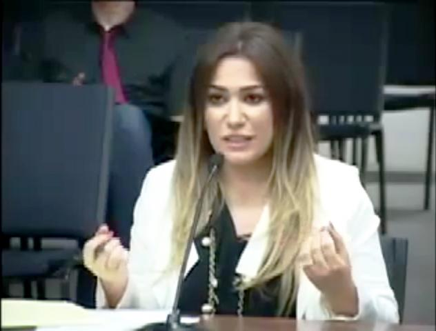 Fadwa Alawieh interviews for the vacant position